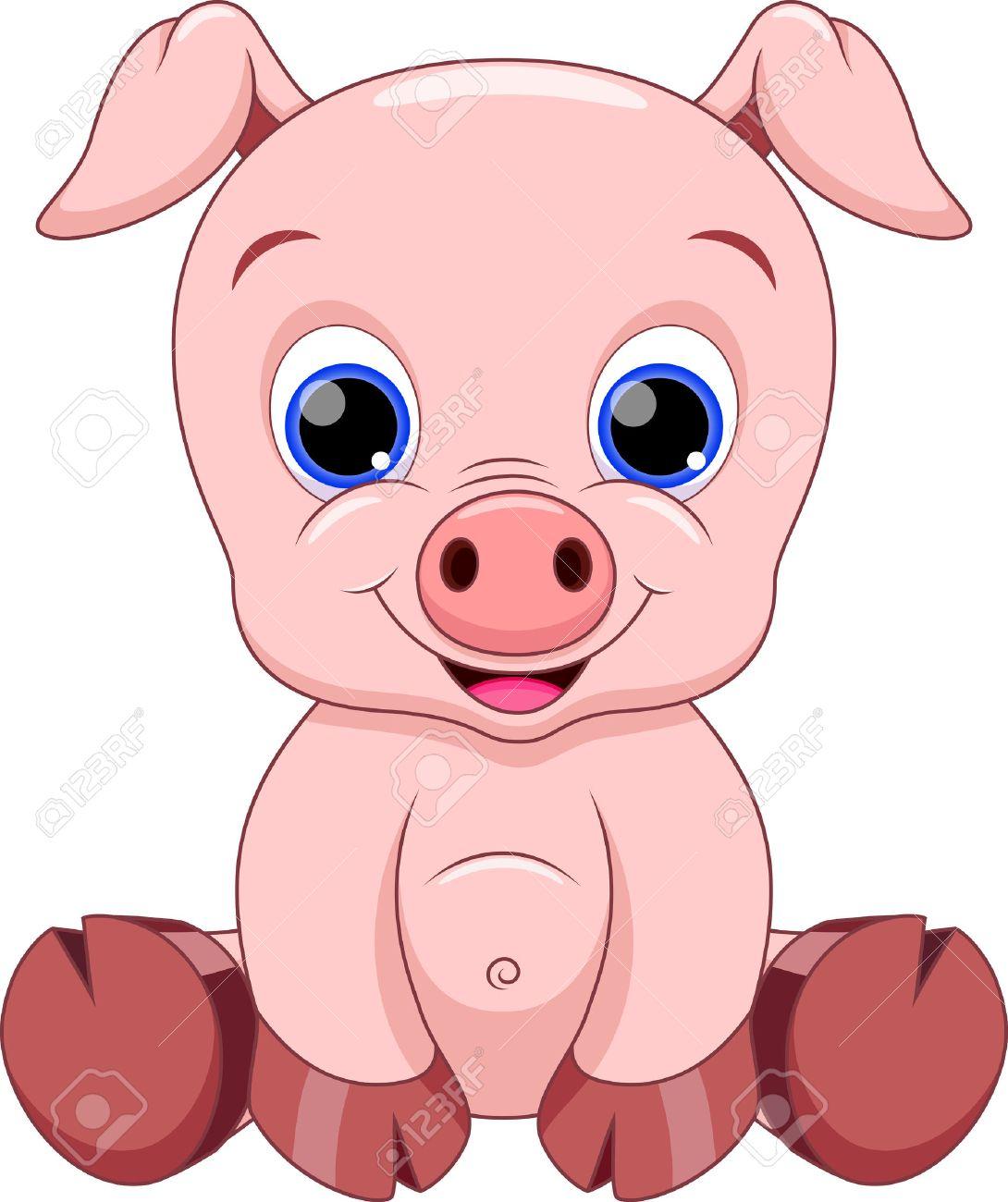 Mignon Dessin Animé Bébé Cochon intérieur Dessin De Cochon En Couleur