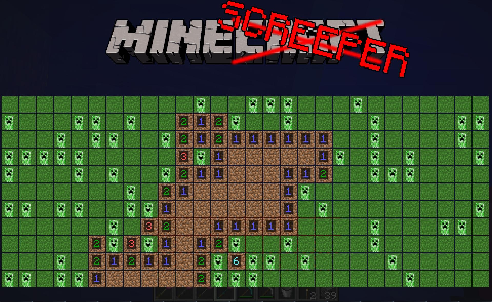 Minecraft Jouer Au Démineur Dans Minecraft pour Jeu Démineur