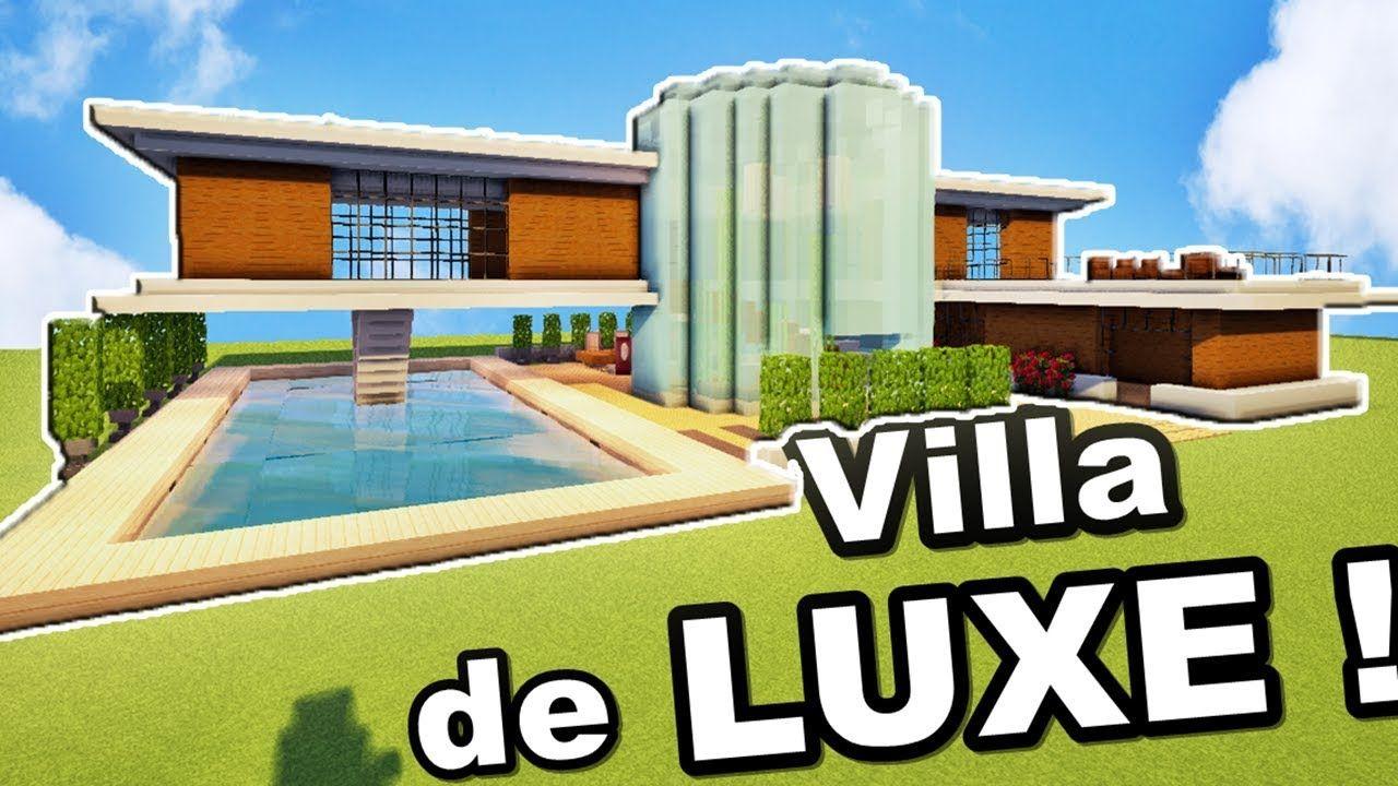 Minecraft Tuto Grande Villa De Luxe !! | Villa De Luxe serapportantà Jeux De Grande Maison
