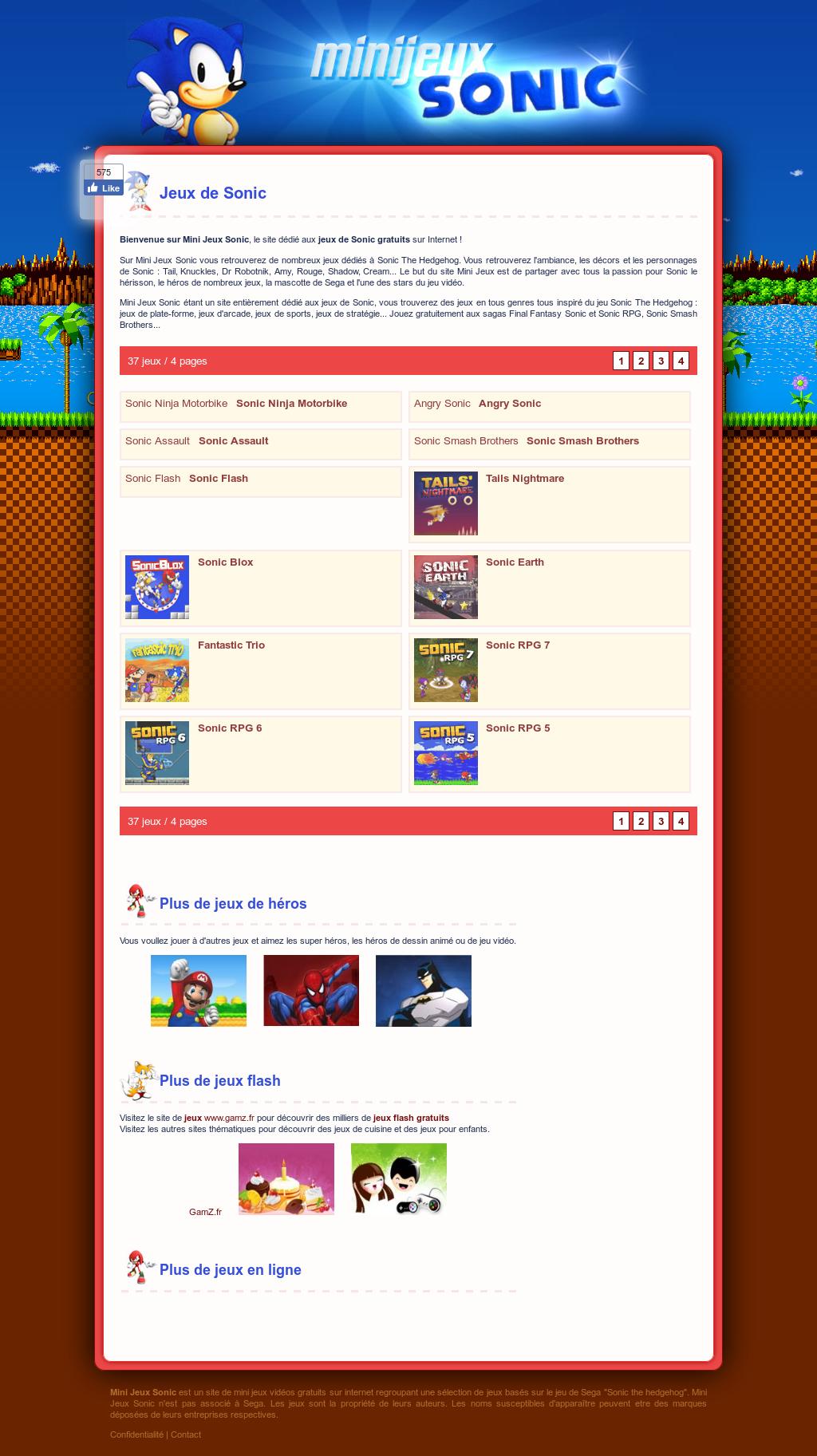 Mini Jeux Sonic Competitors, Revenue And Employees - Owler pour Mini Jeux Online