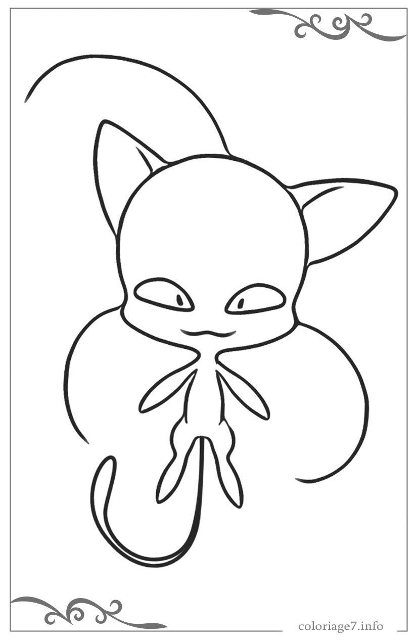 Miraculous, Les Aventures De Ladybug Et Chat Noir Jeux De destiné Coloriage De Chat En Ligne