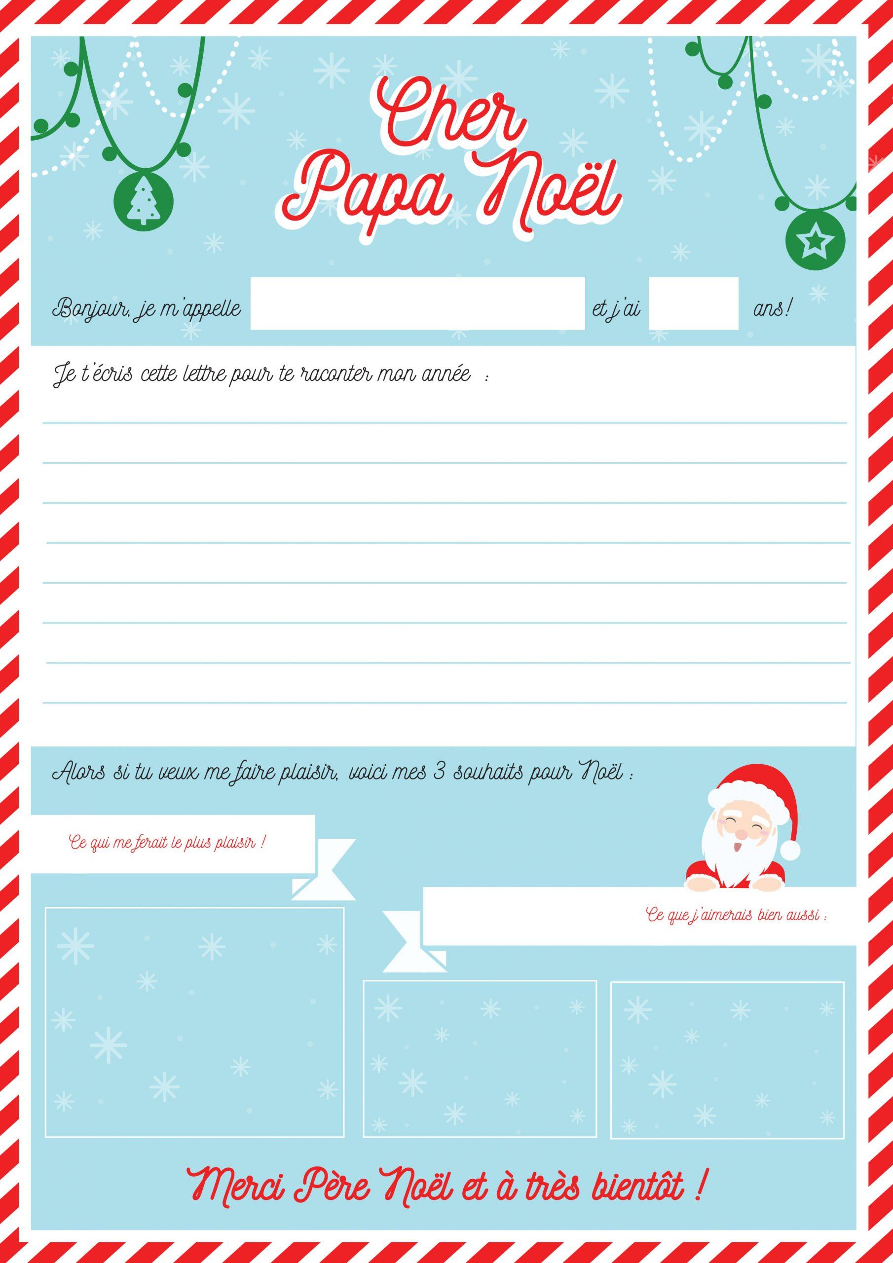 Modele Lettre Au Père Noël À Imprimer Avec Tête À Modeler dedans Lettre A Imprimer Gratuit