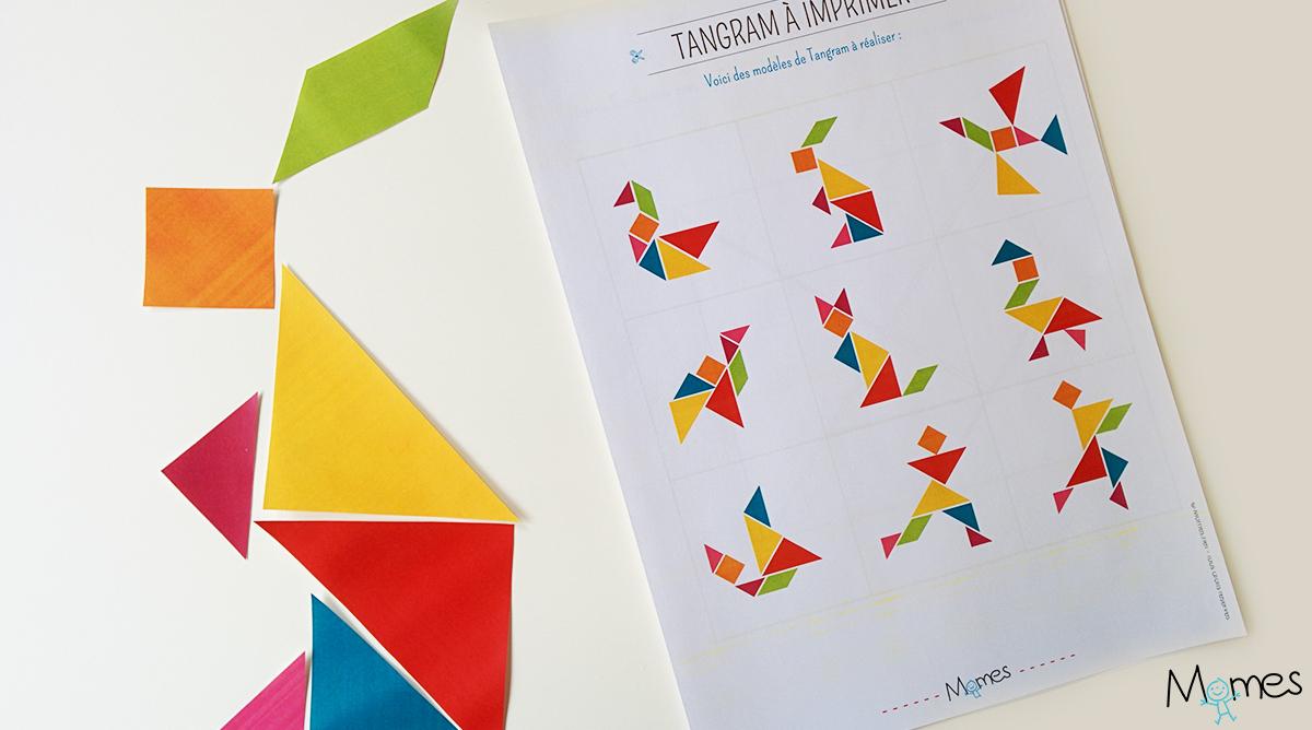 Modèles De Tangram À Imprimer - Momes dedans Tangram Grande Section