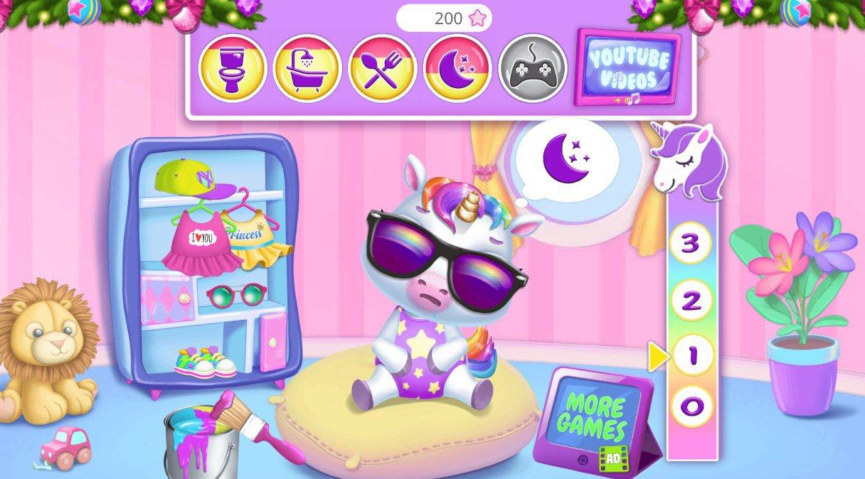 Mon Bébé Licorne 9.0.3 - Télécharger Pour Android Apk encequiconcerne Jeux De Bébé Virtuel