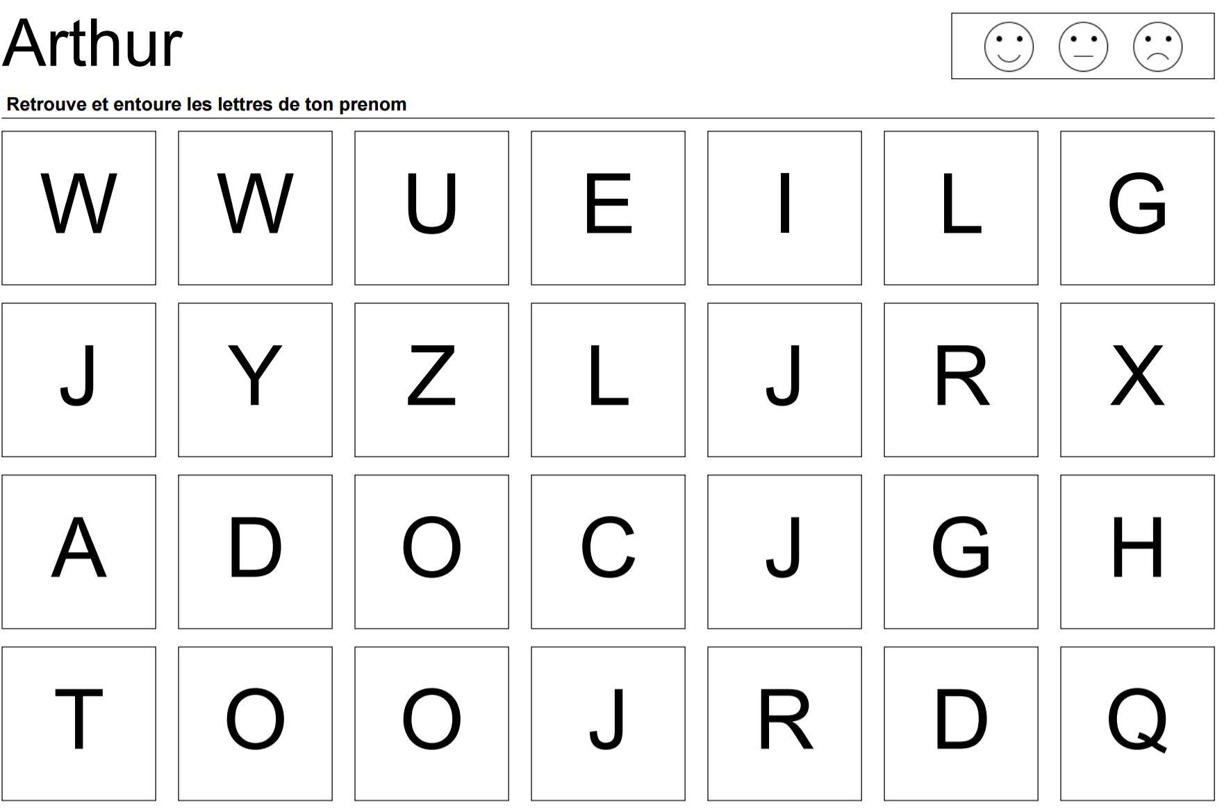 Mon Bureau Virtuel - La Maternelle Des Prenoms serapportantà Activités Sur Les Lettres De L Alphabet En Maternelle