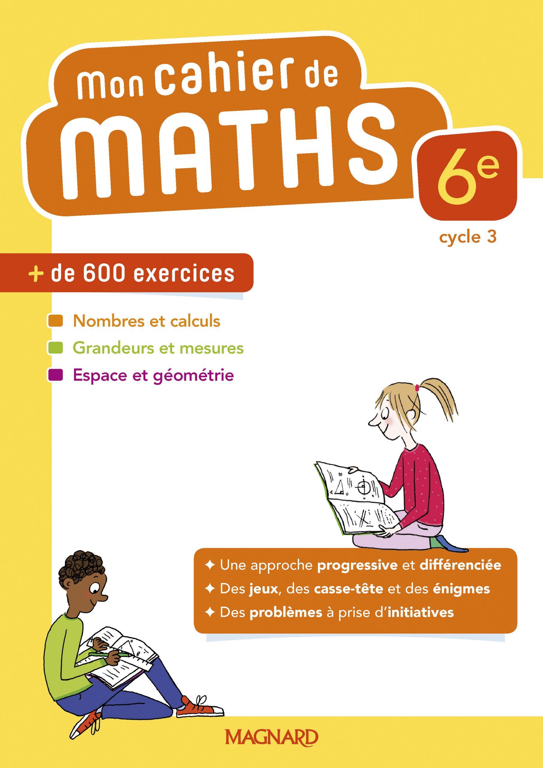 Mon Cahier De Maths 6E (2018) | Magnard Enseignants intérieur Jeux De Exercice De Maths