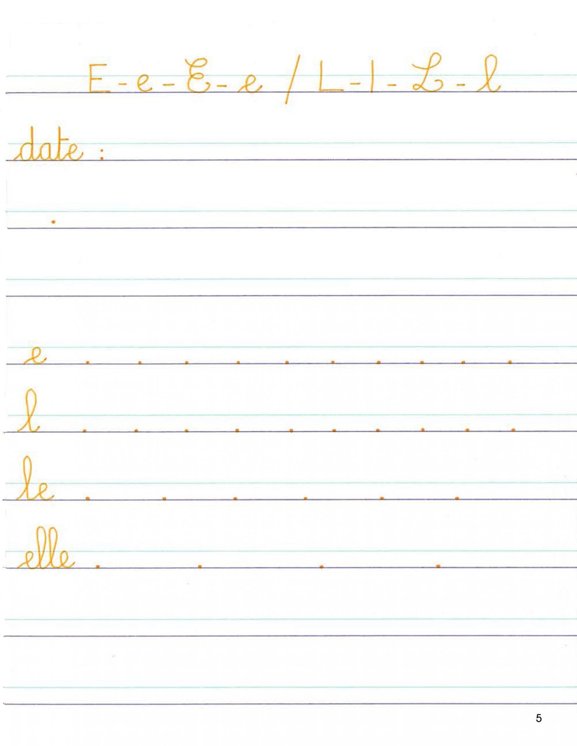 Mon Cahier D'écriture Grande Section De Maternelle - Scop à Grand Section Exercice