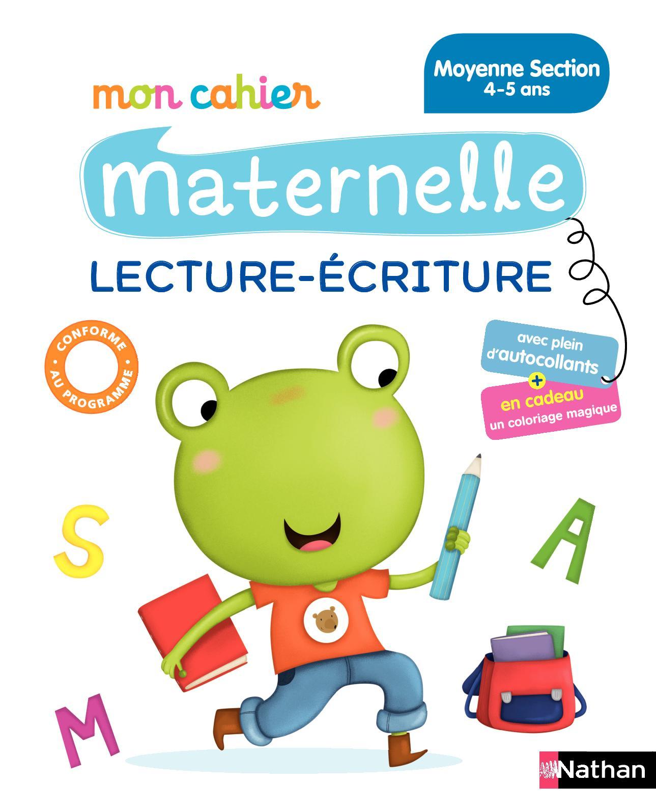 Mon Cahier Maternelle Lecture Écriture - Moyenne Section destiné Écriture En Moyenne Section