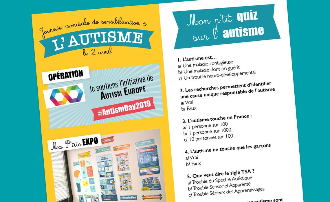Mon P'tit Quiz Sur L'autisme - Blog Hop'toys serapportantà Quizz Enfant
