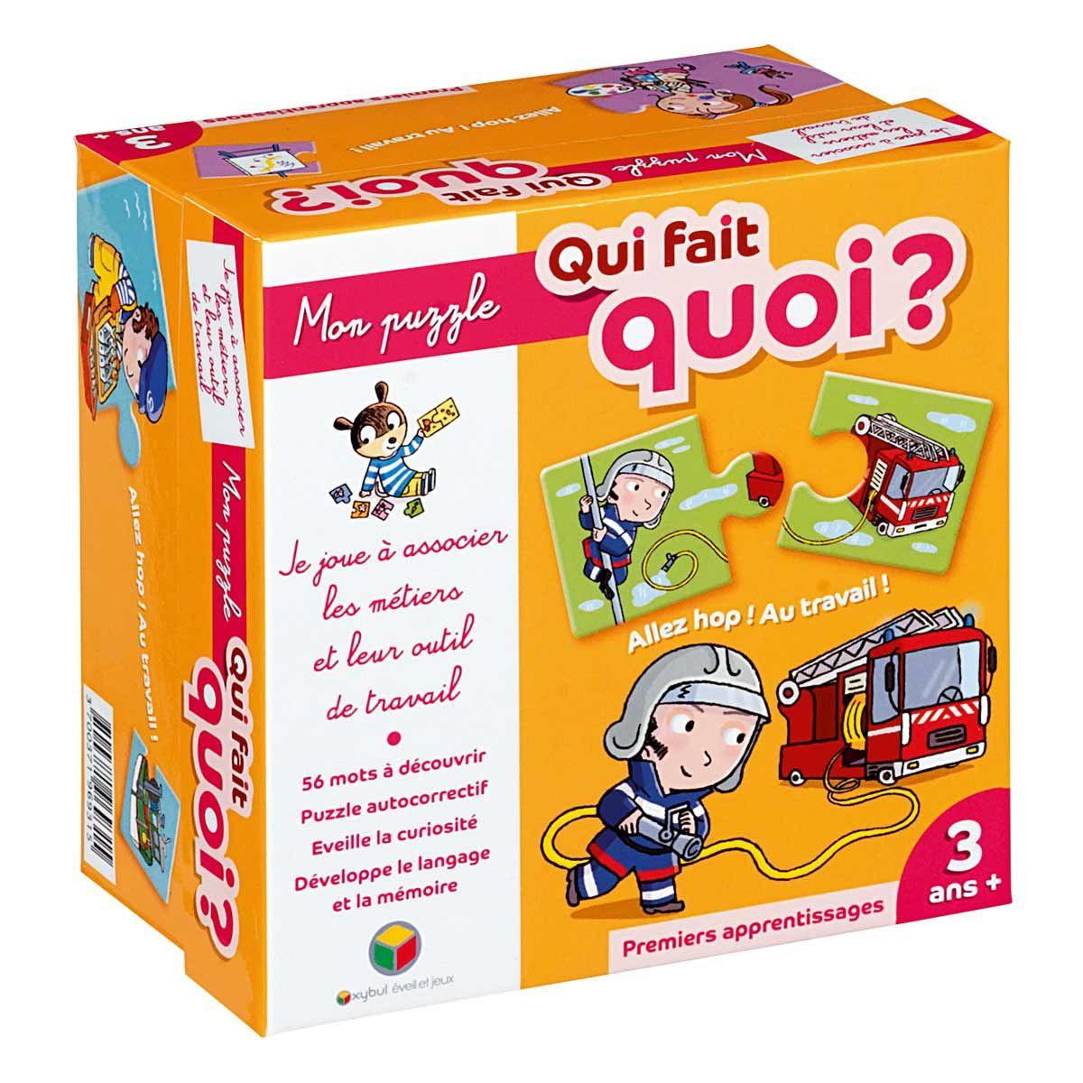 Mon Puzzle : Qui Fait Quoi ? Oxybul Pour Enfant De 3 Ans À 5 concernant Puzzle Fille 3 Ans
