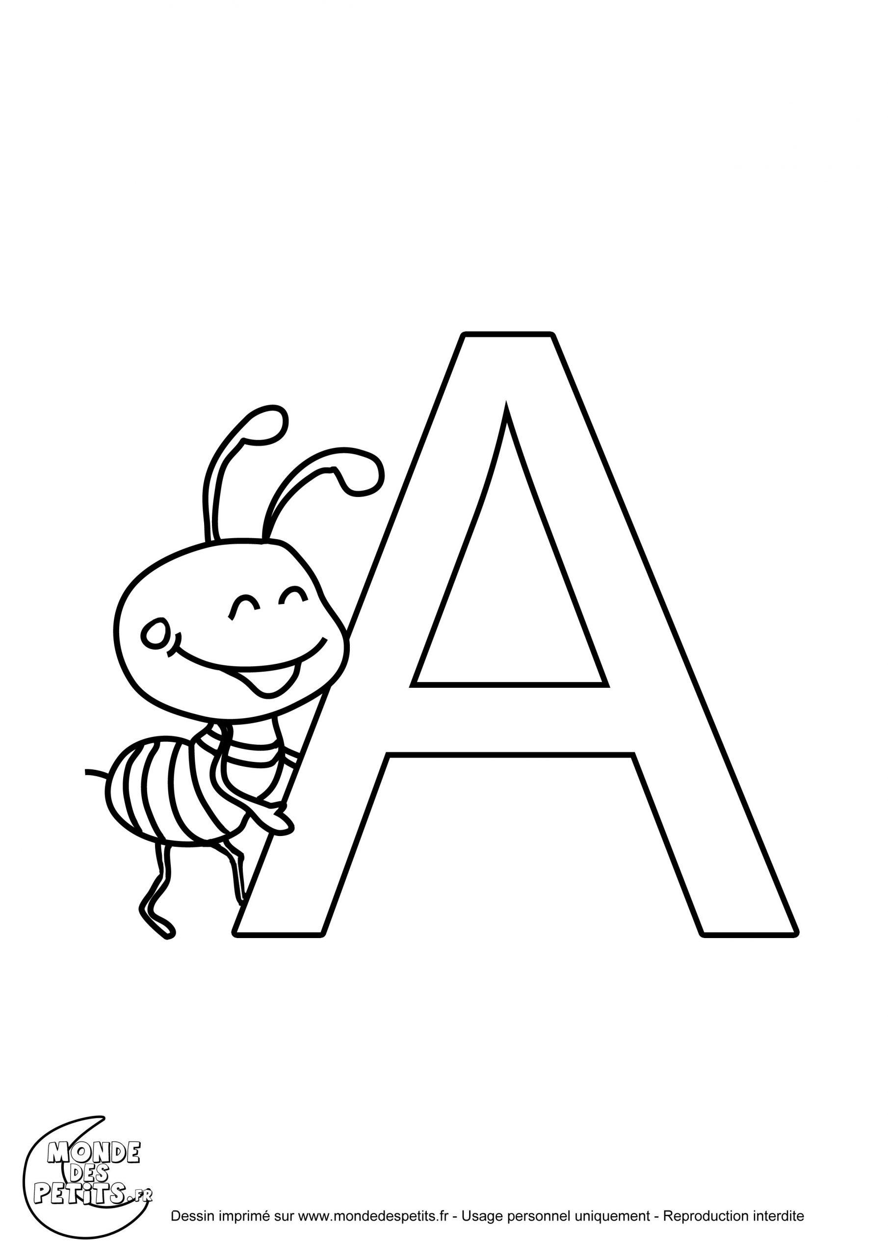 Monde Des Petits - Coloriages À Imprimer pour Coloriage D Alphabet