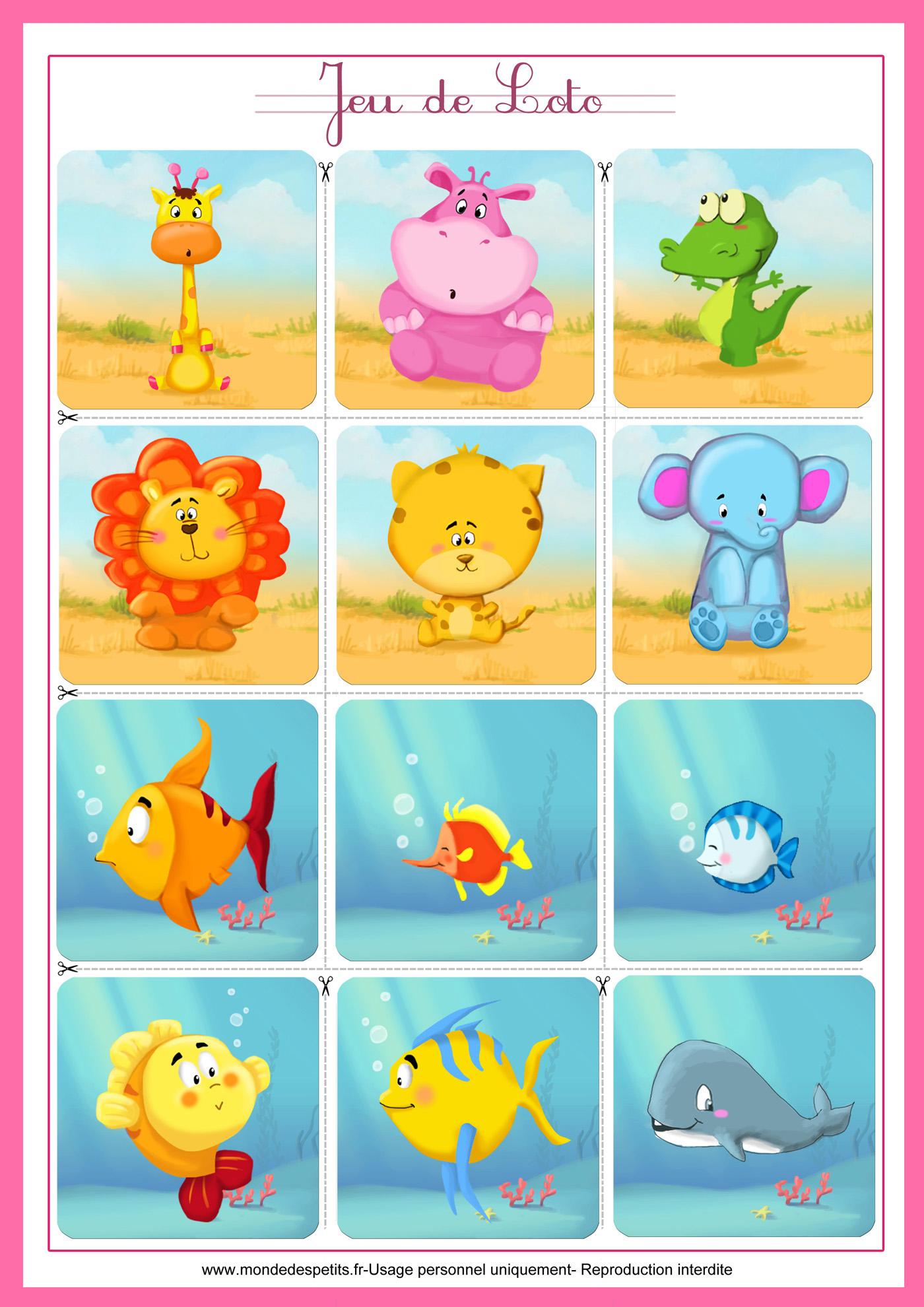 Monde Des Petits - Jeux De Société concernant Jeux De Bébé Animaux Gratuit