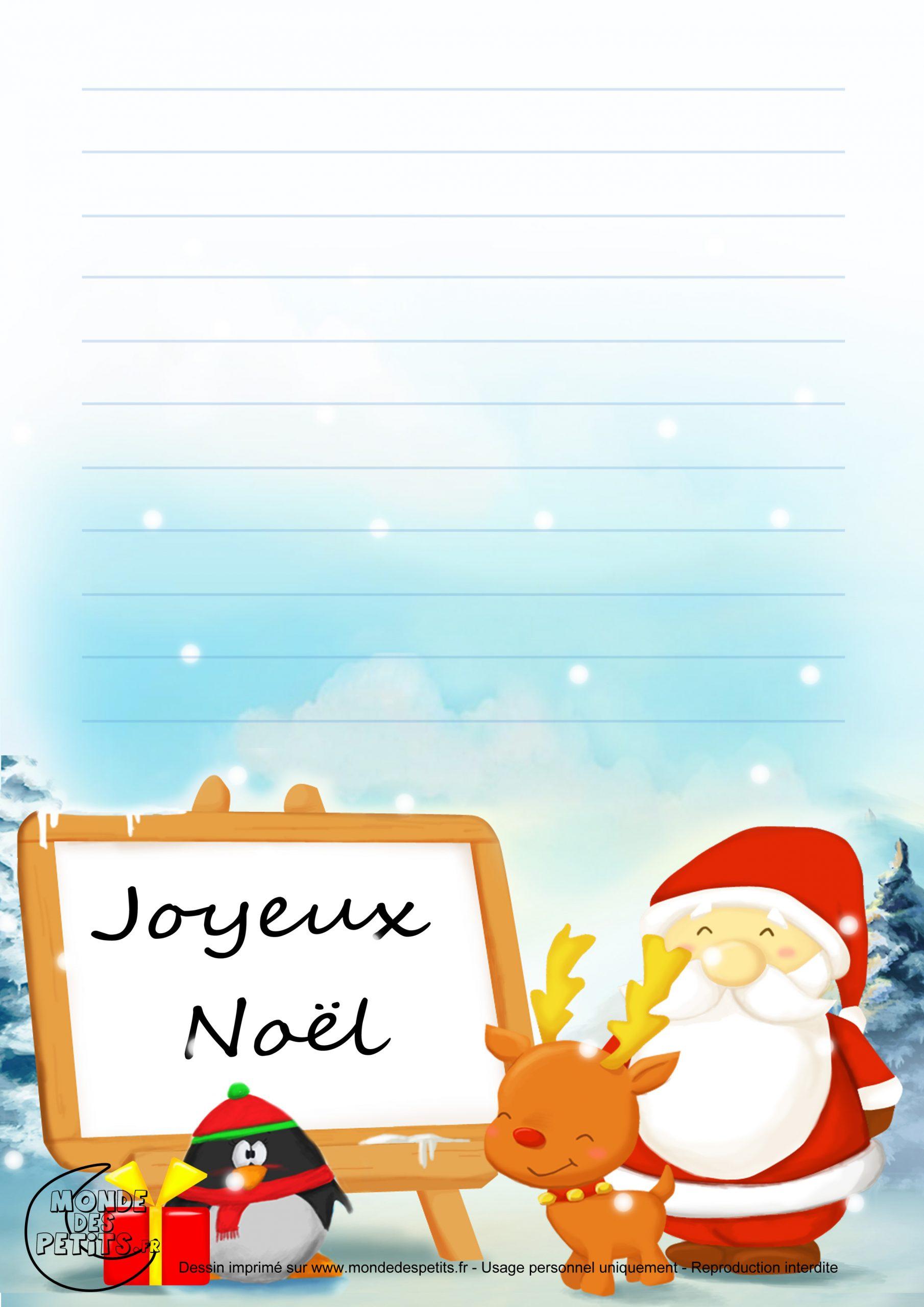 Monde Des Petits - Papier À Lettre destiné Papier À Lettre Père Noel À Imprimer Gratuitement