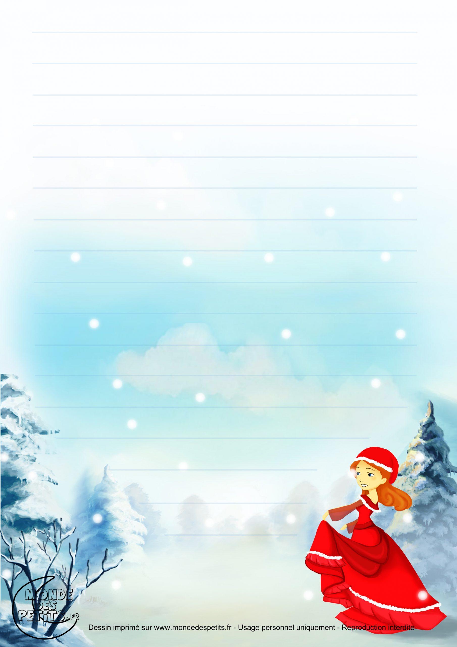 Monde Des Petits - Papier À Lettre intérieur Papier A Lettre Pere Noel Gratuit