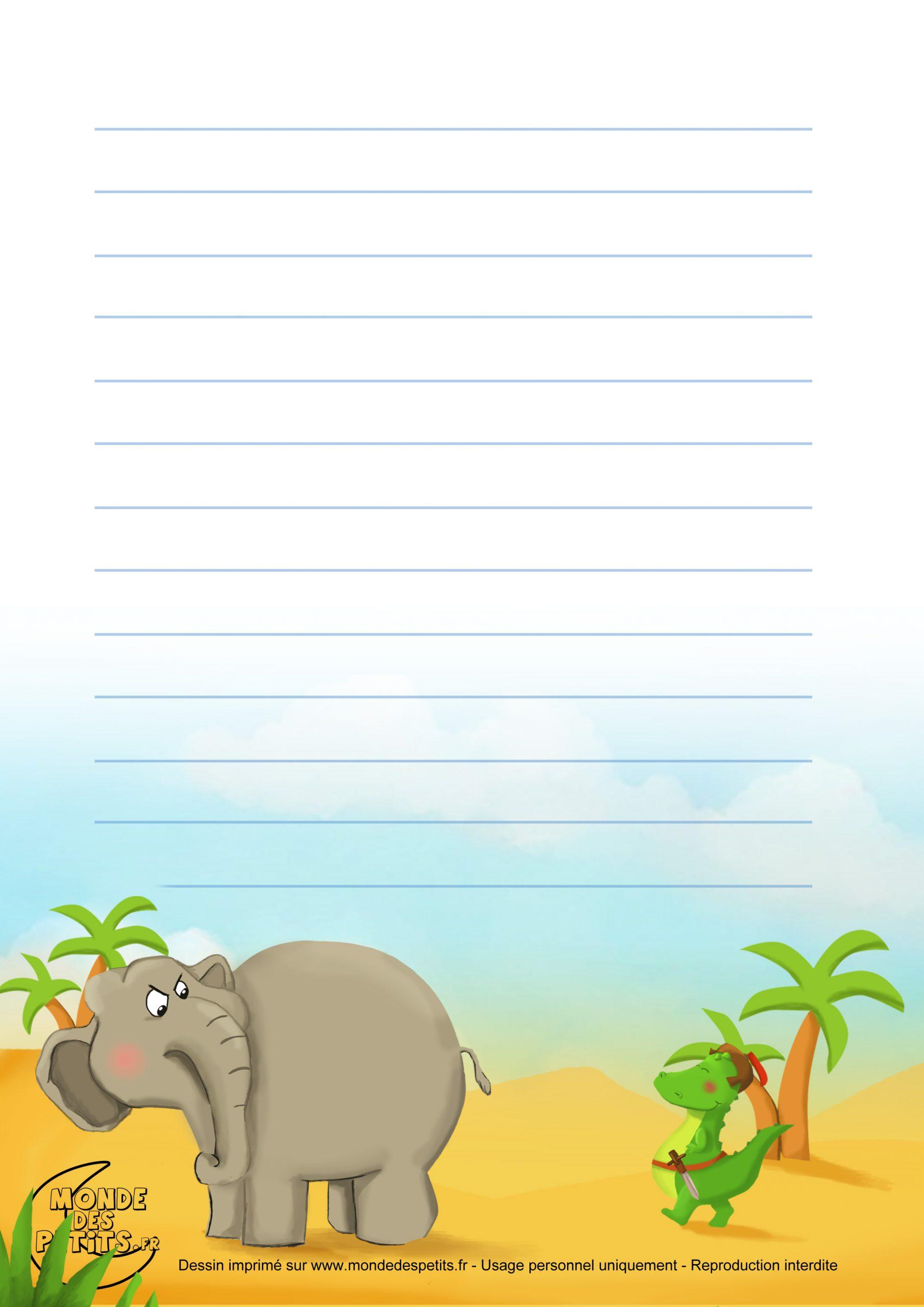 Monde Des Petits - Papier À Lettre serapportantà Papier À Lettre Gratuit À Imprimer