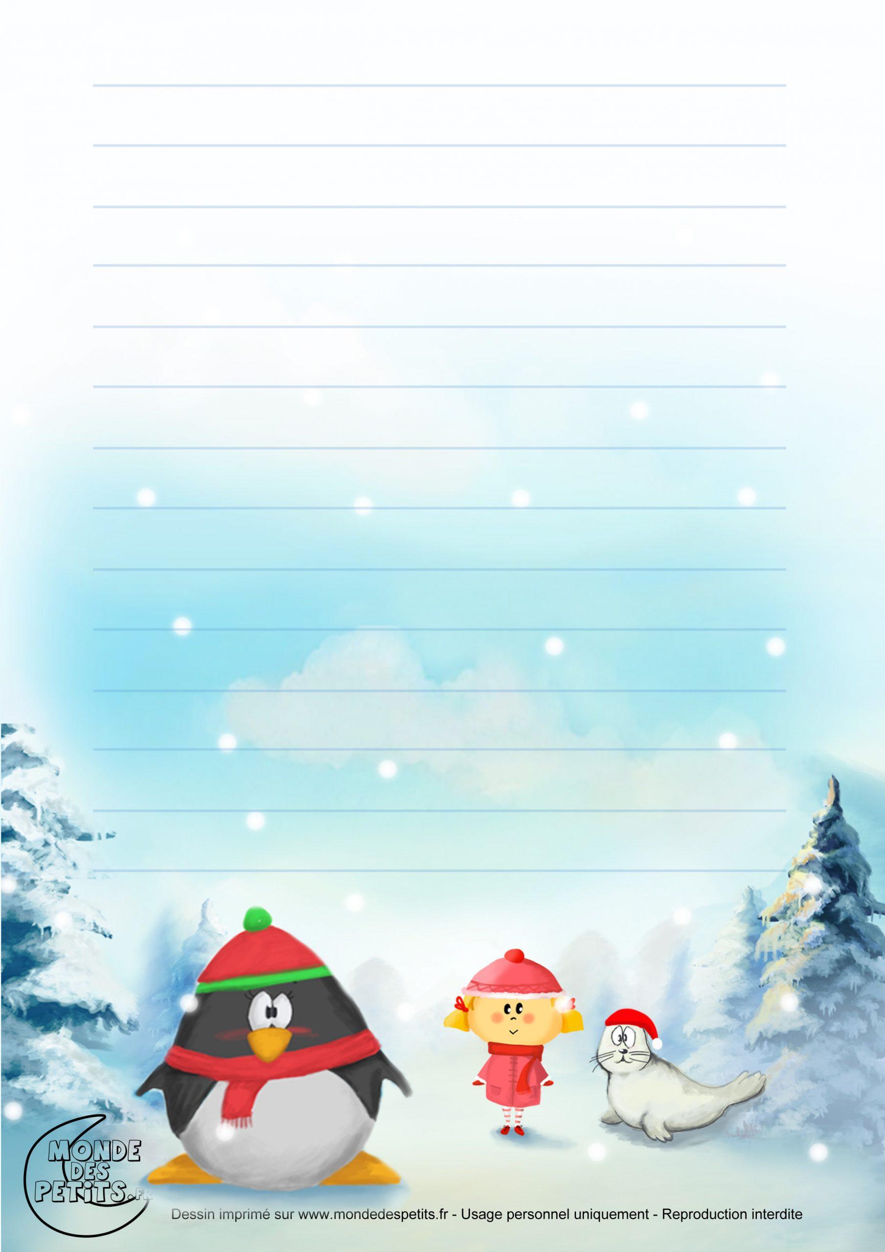 Monde Des Petits - Papier À Lettre serapportantà Papier À Lettre Père Noel À Imprimer Gratuitement