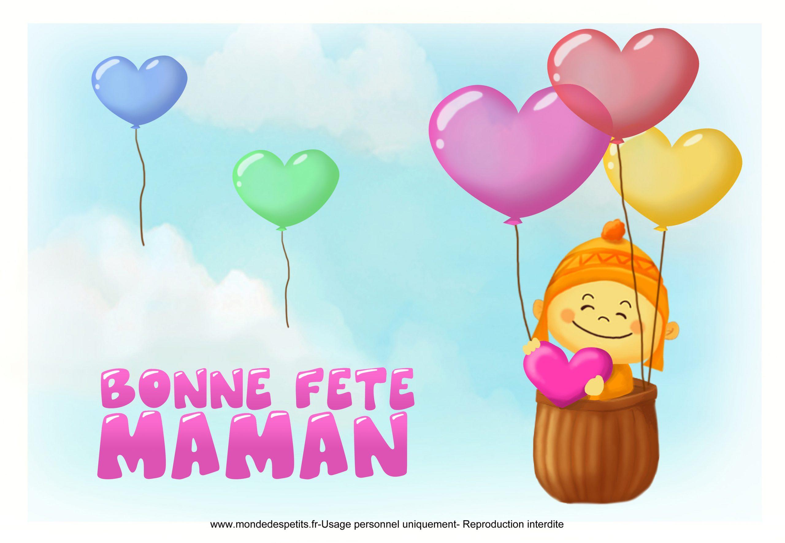 Monde Des Petits - Par Thème à Carte Bonne Fete Maman A Imprimer