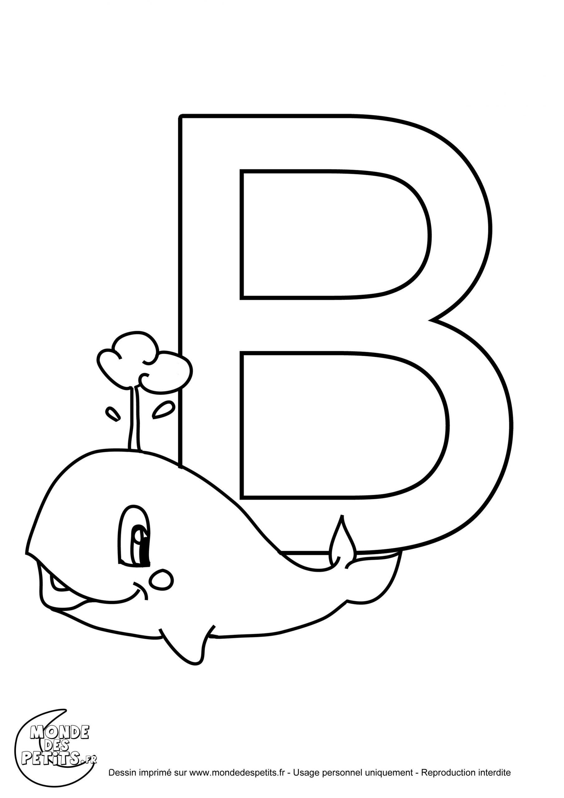 .mondedestitounis.fr Images Coloriage-Alphabet-Lettre-B à Coloriage D Alphabet