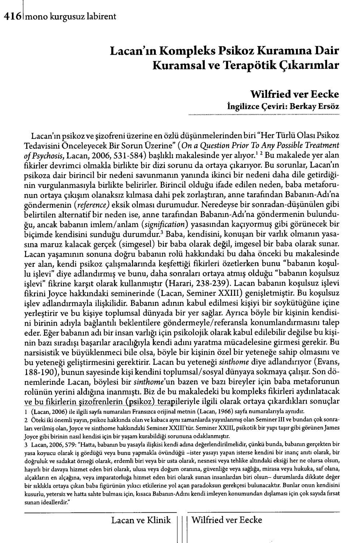 Monokl - Sayı 6-7 - 2009 Yaz (Lacan Seçkisi Sayısı) Kısım 2 à Mot Mystere