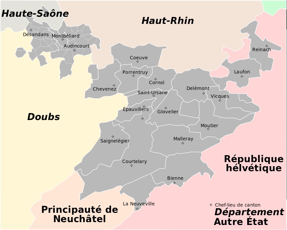 Mont-Terrible — Wikipédia à Departement Et Chef Lieu