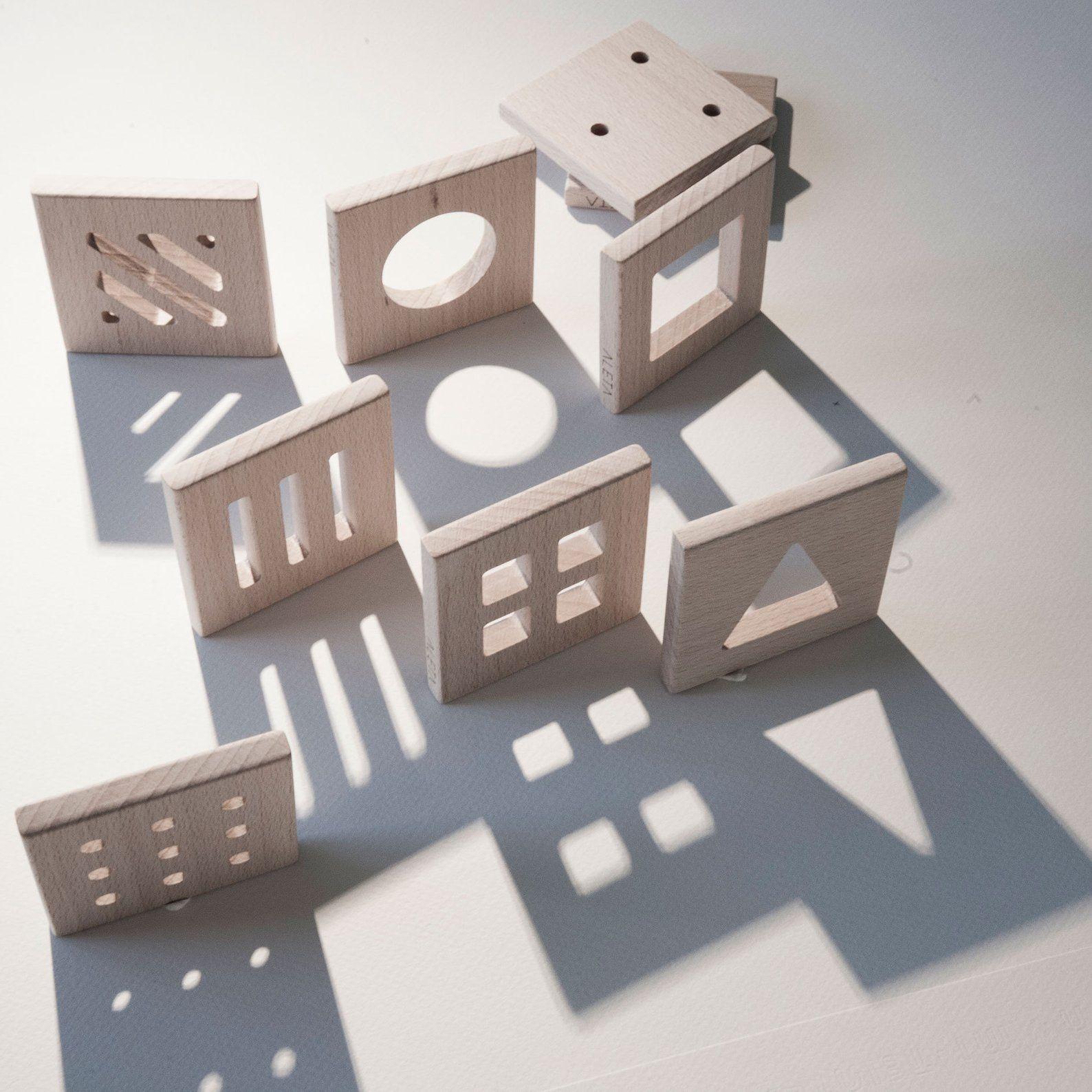 Montessori. Formes. Puzzle. Ombres. Jouet De Montessori pour Boite À Forme Montessori