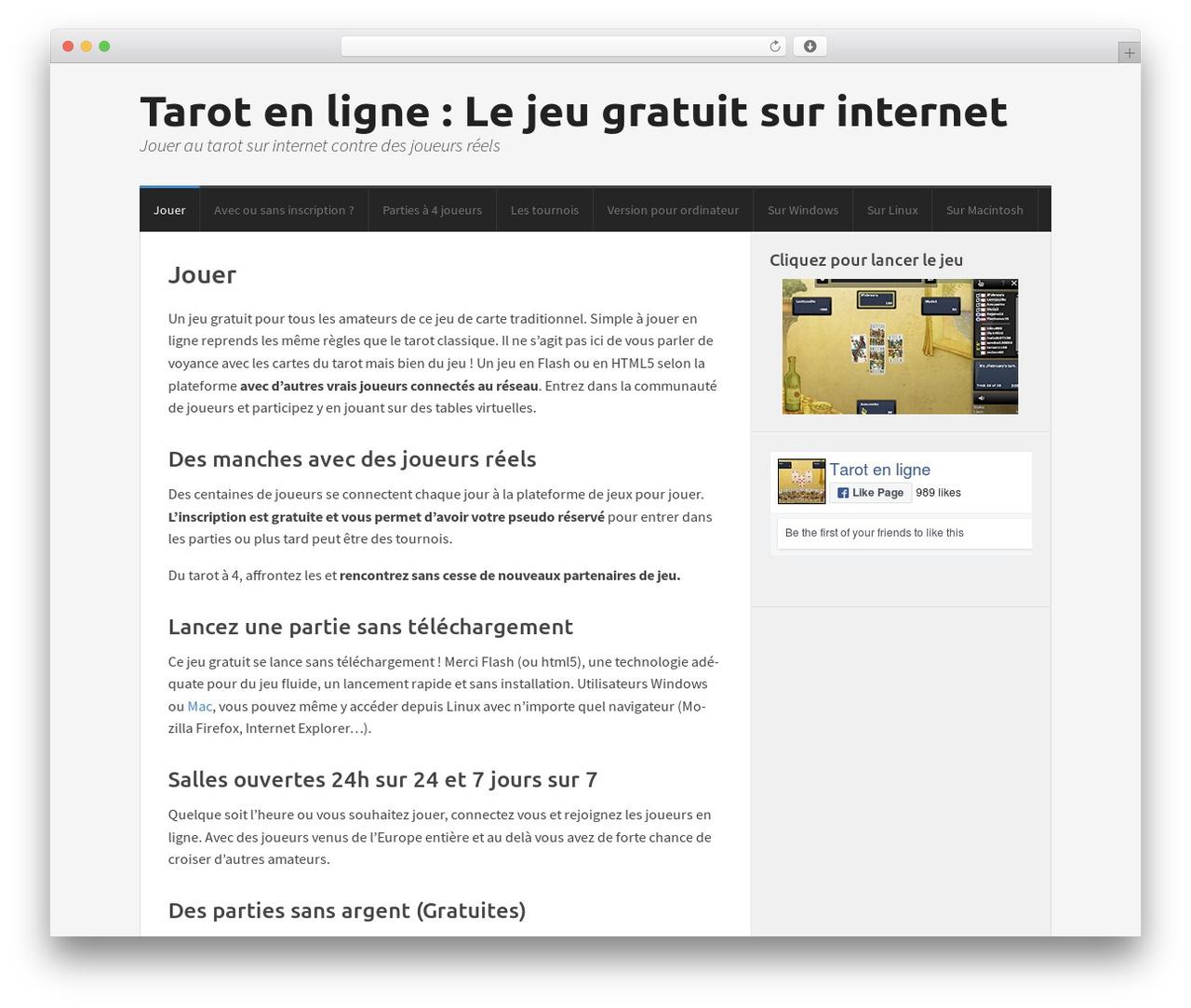 Morphic Wordpress Theme By Cs Themes - Tarot-En-Ligne.fr encequiconcerne Jeux Internet Gratuit Francais