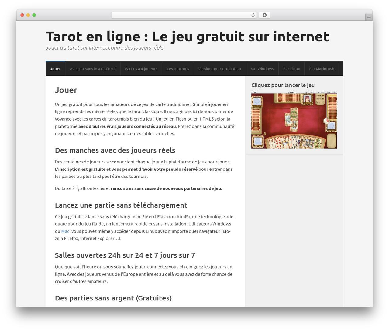 Morphic Wordpress Theme By Cs Themes - Tarot-En-Ligne.fr intérieur Jeux Gratuits En Ligne Sans Inscription Et Sans Telechargement