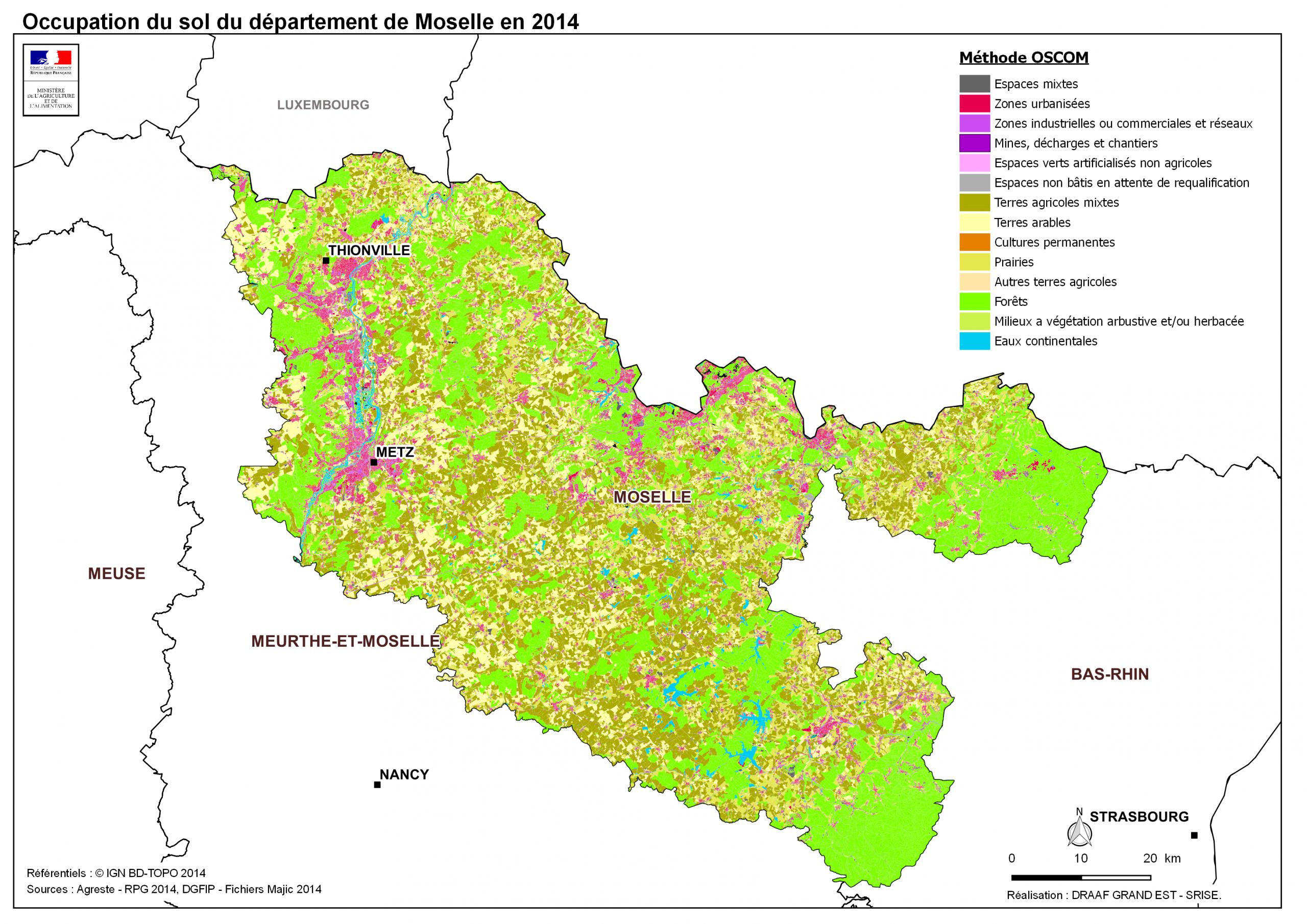 Moselle (57) - Direction Régionale De L'alimentation, De L pour Département 57 Carte