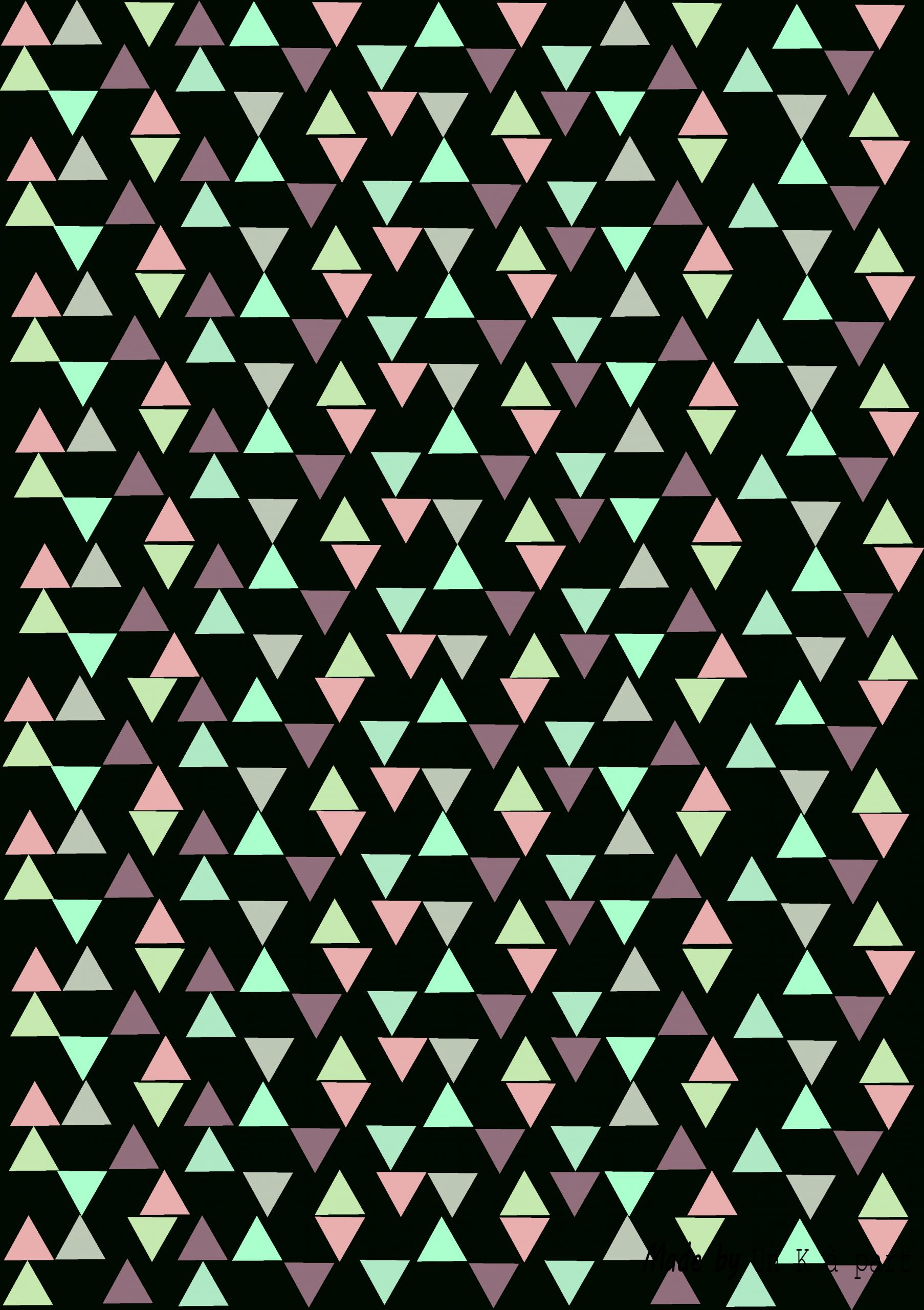 Motif Triangle À Imprimer Gratuitement | Kafouillis - Un K À avec Feuille De Couleur A Imprimer Gratuit