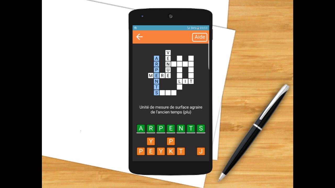 Mots Croisés En Français (Android App) avec Mot Croisé Aide