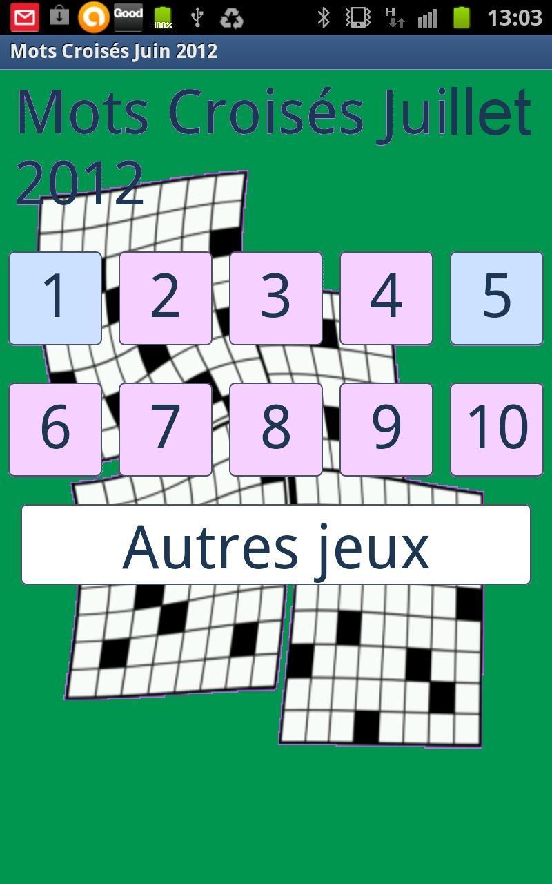 Mots Croisés Faciles 07 Pour Android - Téléchargez L'apk intérieur Jeux Mots Croisés Facile