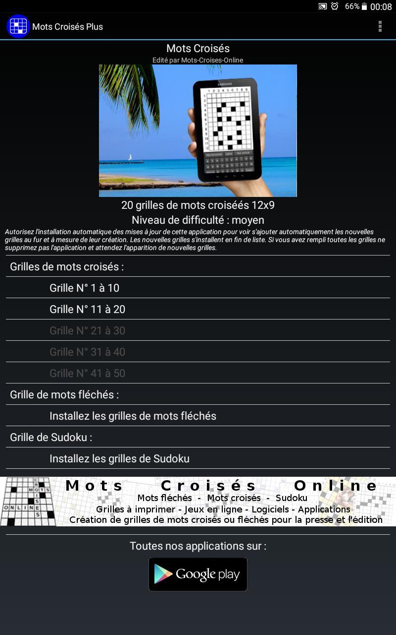 Mots Croisés Gratuits For Android - Apk Download à I Fleches Gratuit