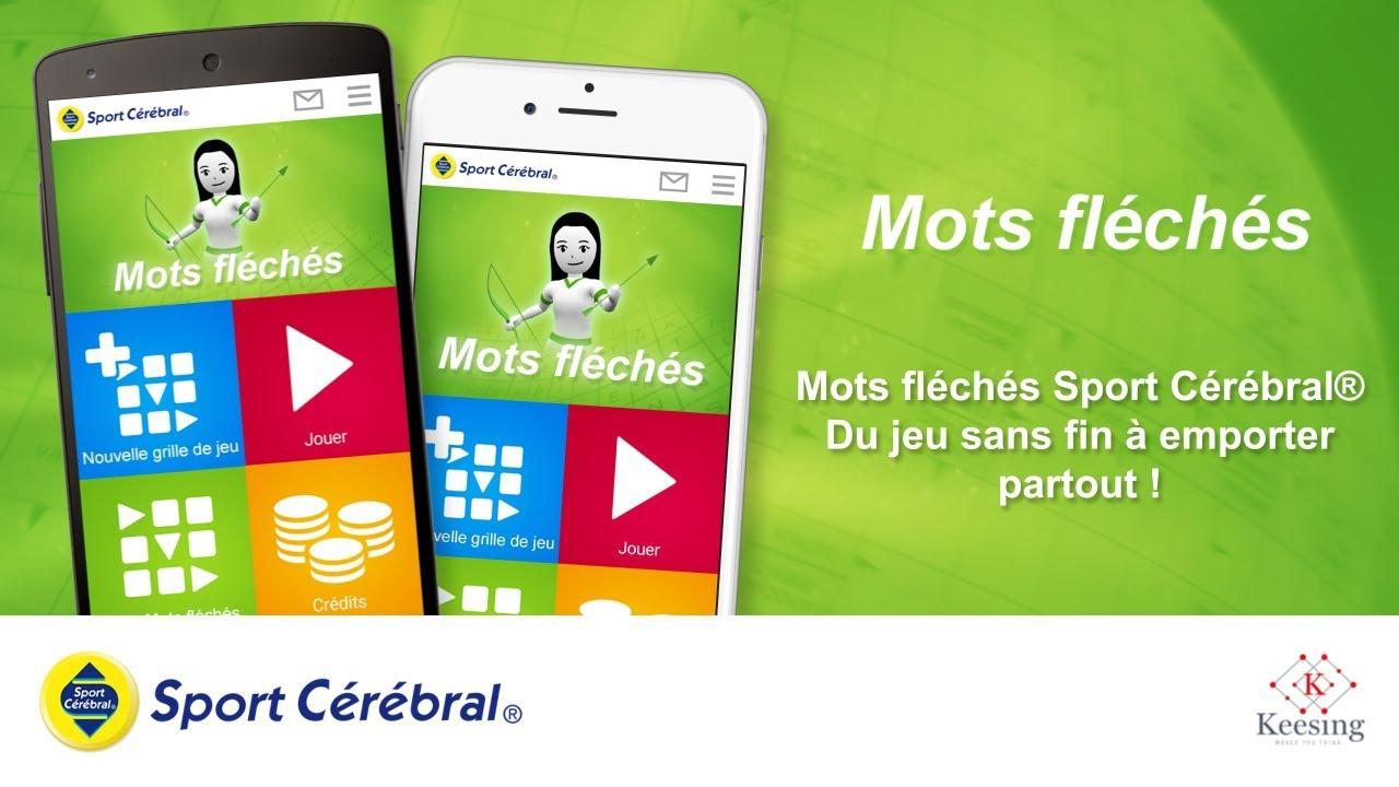 Mots Fléchés - Application Mobile - Sport Cérébral® encequiconcerne Application Jeux De Mots