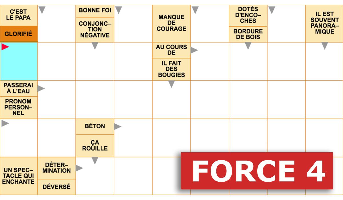 Mots Fléchés Force 4 Gratuits En Ligne - Grilles Mots à Jeux Mots Croisés En Français