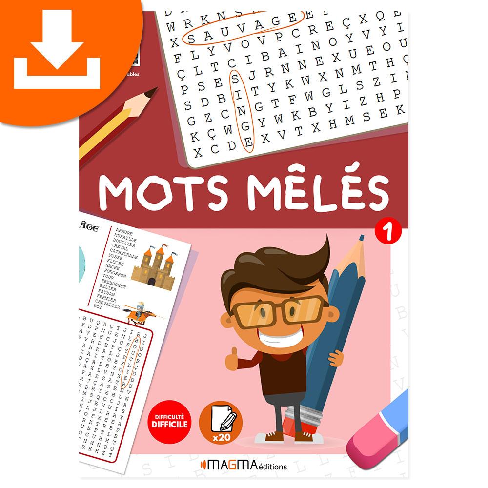 Mots Mêlés 1 Niveau Difficile Magma Éditions - Produit Téléchargeable destiné Mots Croisés Difficiles Gratuits À Imprimer