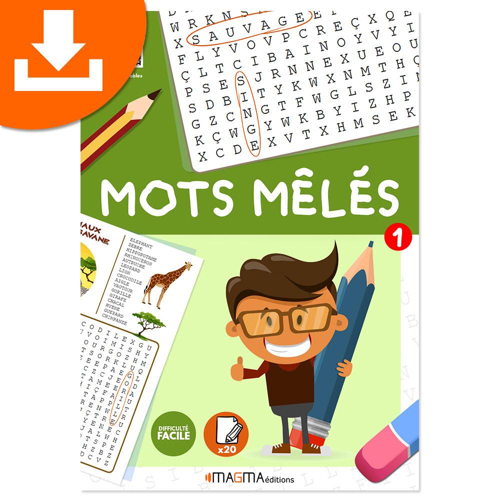 Mots Mêlés 1 Niveau Facile Magma Éditions - Produit Téléchargeable tout Jeux Mots Croisés Facile