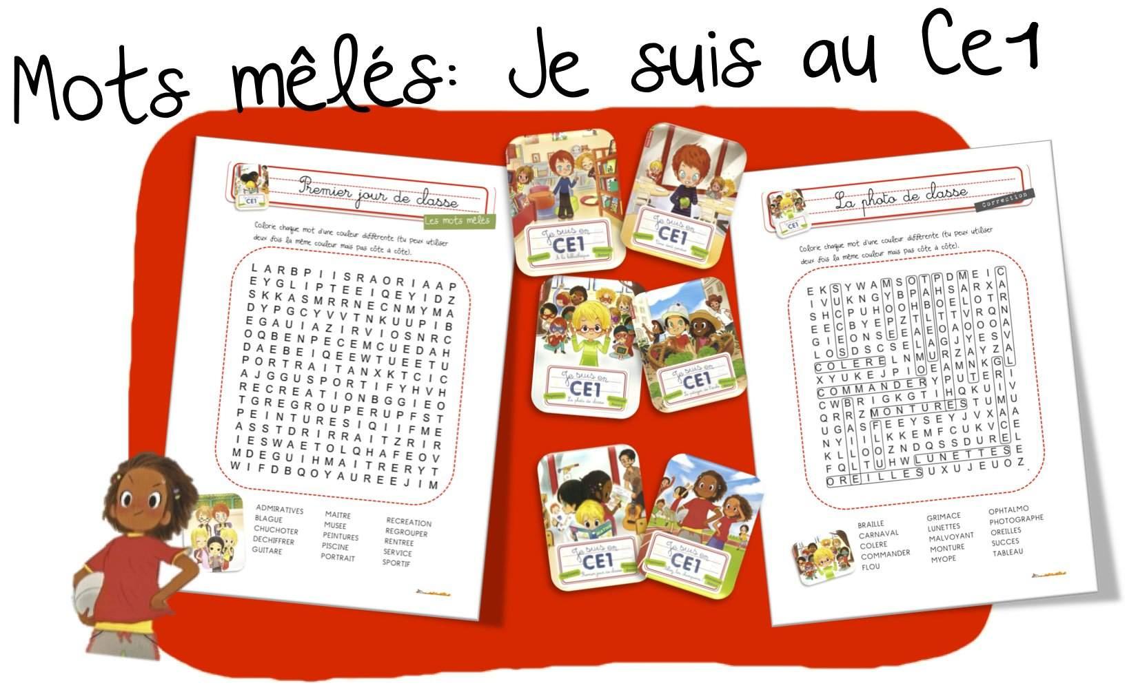 Mots Mêlés : Je Suis Au Ce1   Bout De Gomme concernant Mots Meles Francais