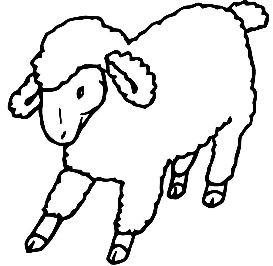 Mouton #16 (Animaux) – Coloriages À Imprimer dedans Mouton À Colorier