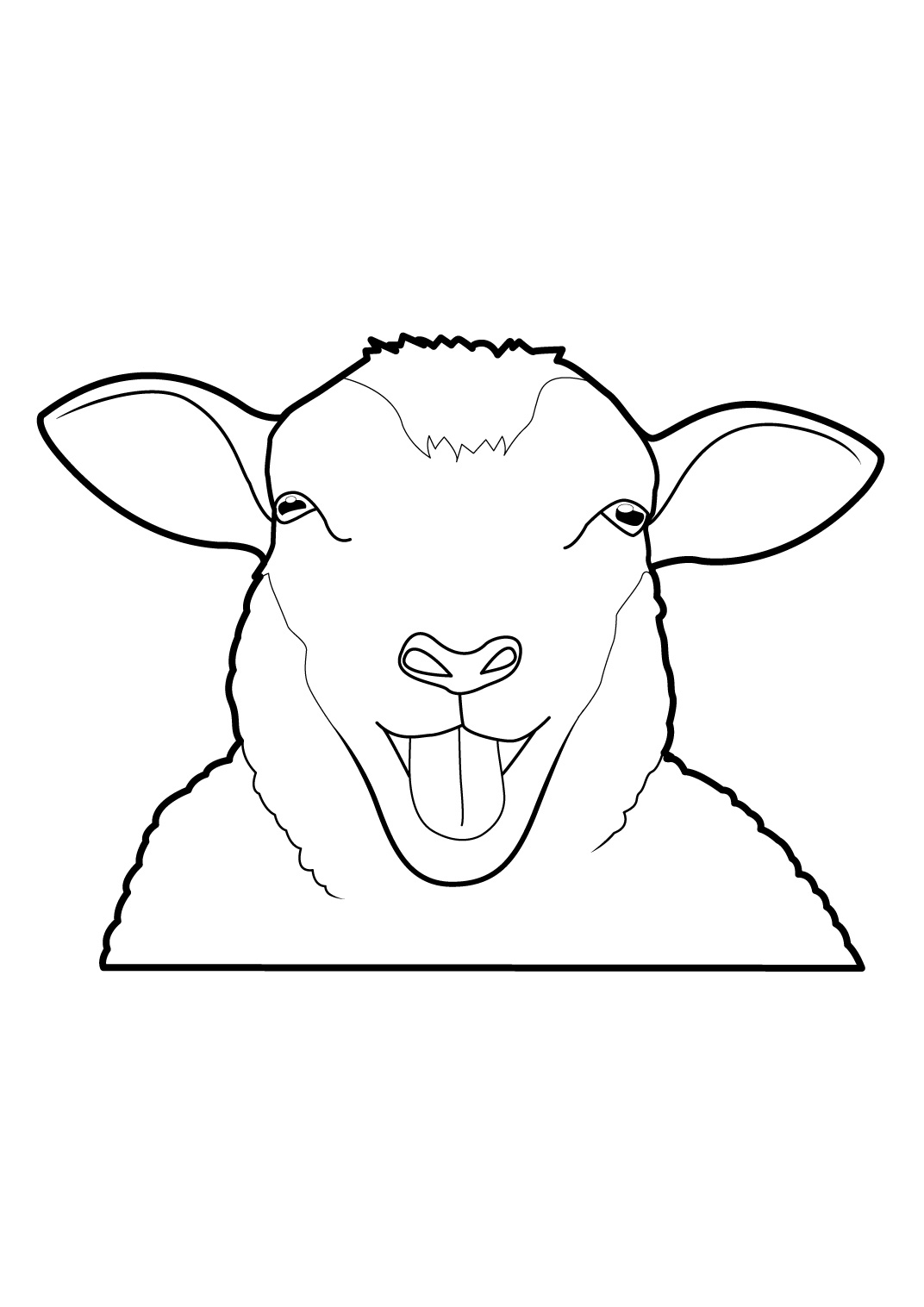 Mouton #26 (Animaux) – Coloriages À Imprimer à Mouton À Colorier