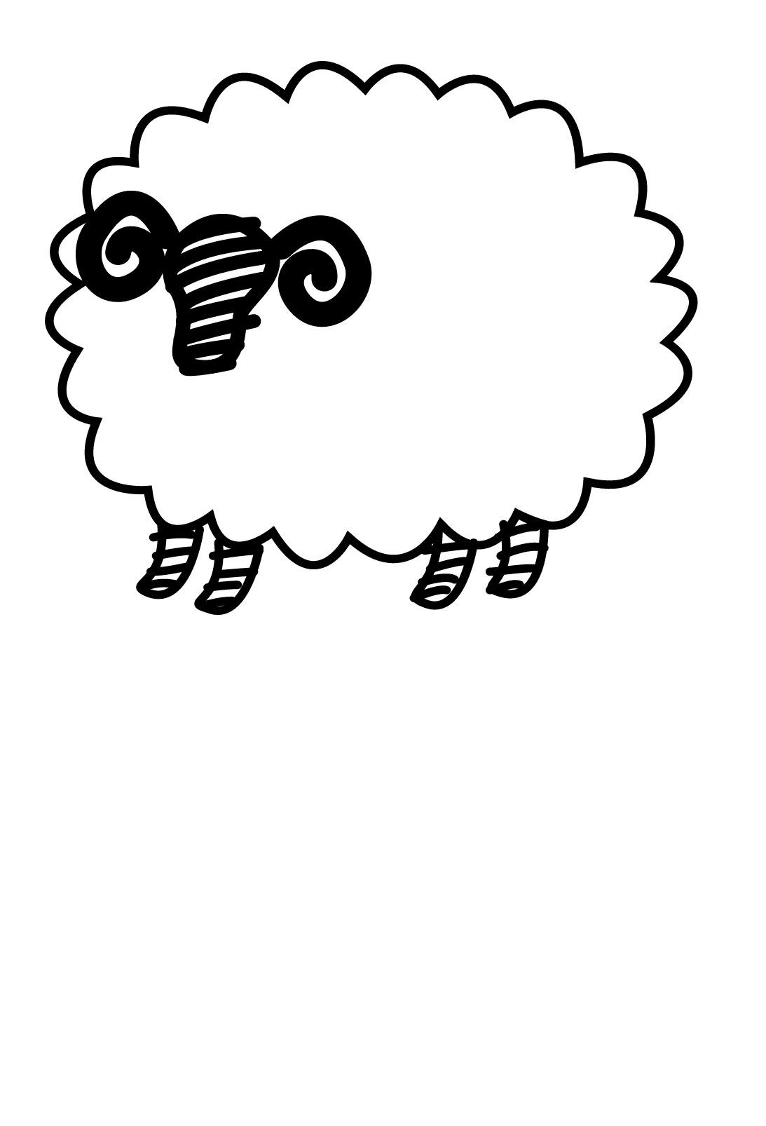 Mouton #90 (Animaux) – Coloriages À Imprimer pour Mouton À Colorier