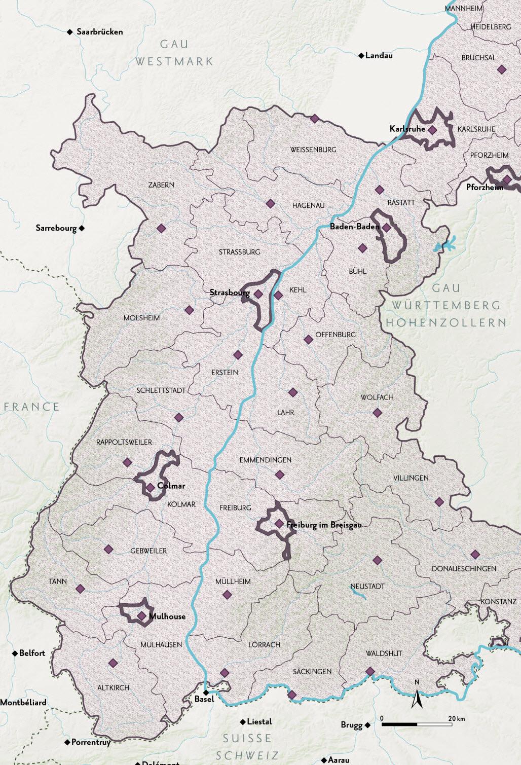Mulhouse | Atlas Historique Du Rhin Supérieur : 57 Cartes concernant Département 57 Carte