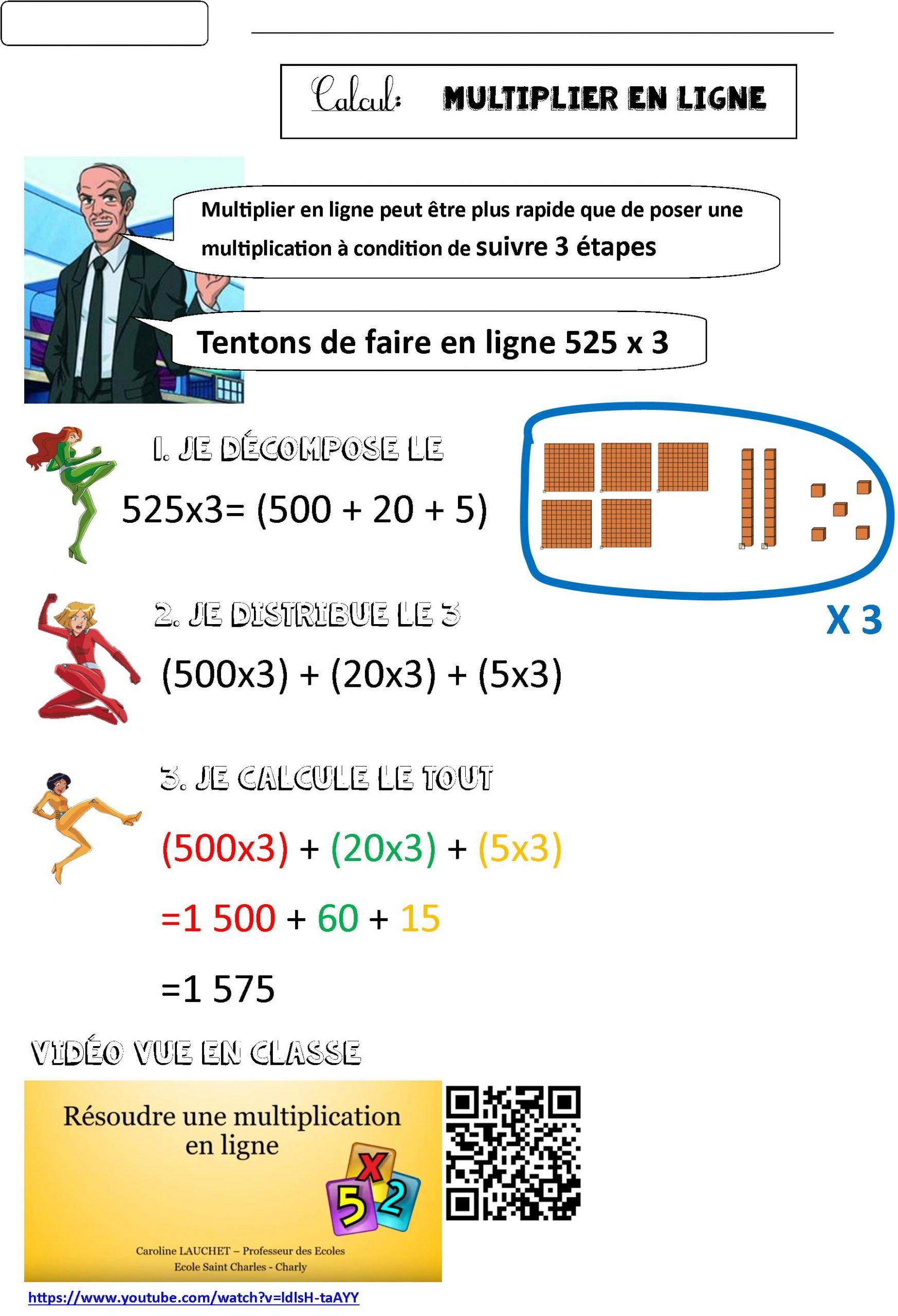 Multiplier En Ligne Ce2 | Le Blog De Monsieur Mathieu pour Exercice De Cp En Ligne