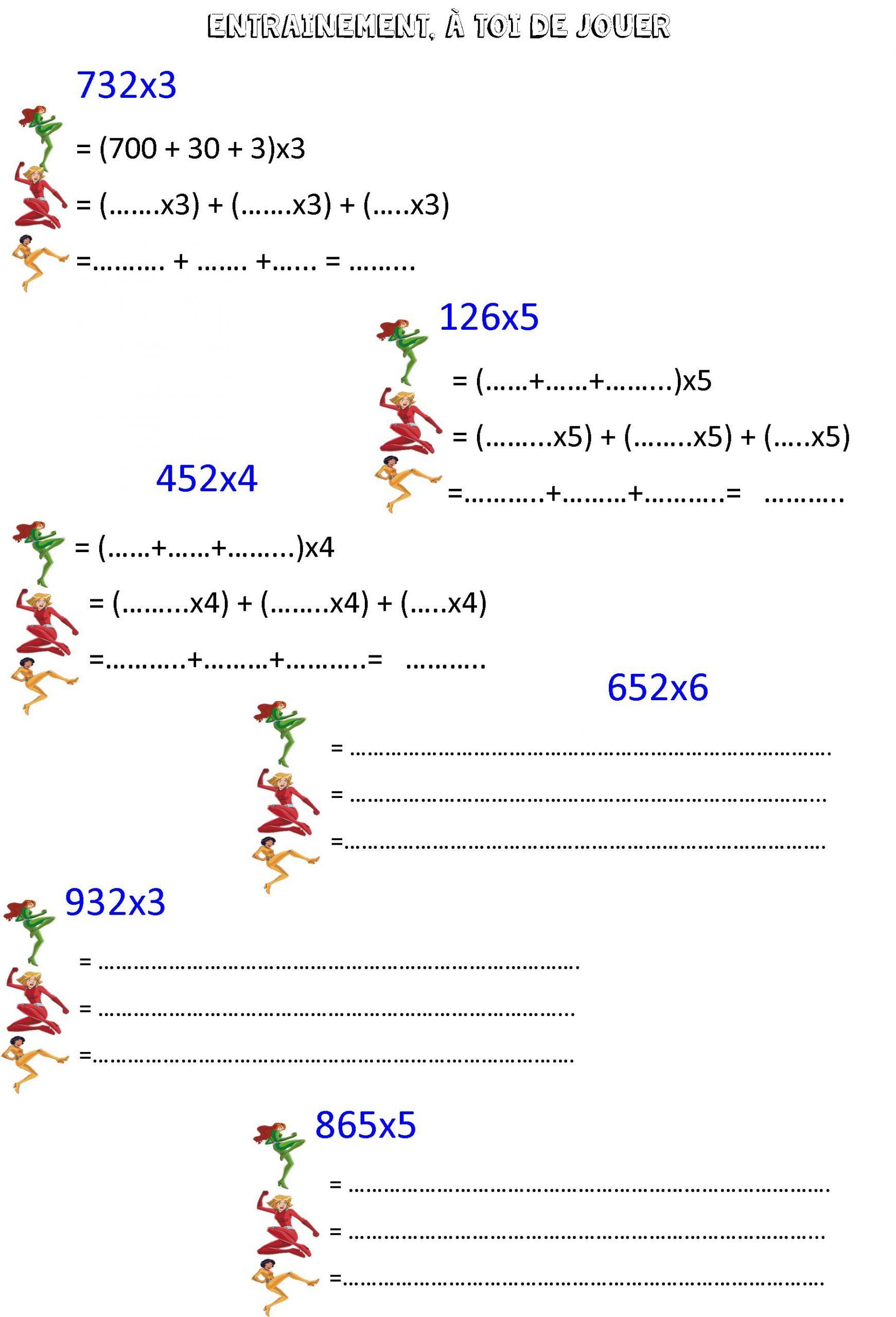 Multiplier En Ligne Ce2 | Le Blog De Monsieur Mathieu pour Exercices Maths Ce2 À Imprimer