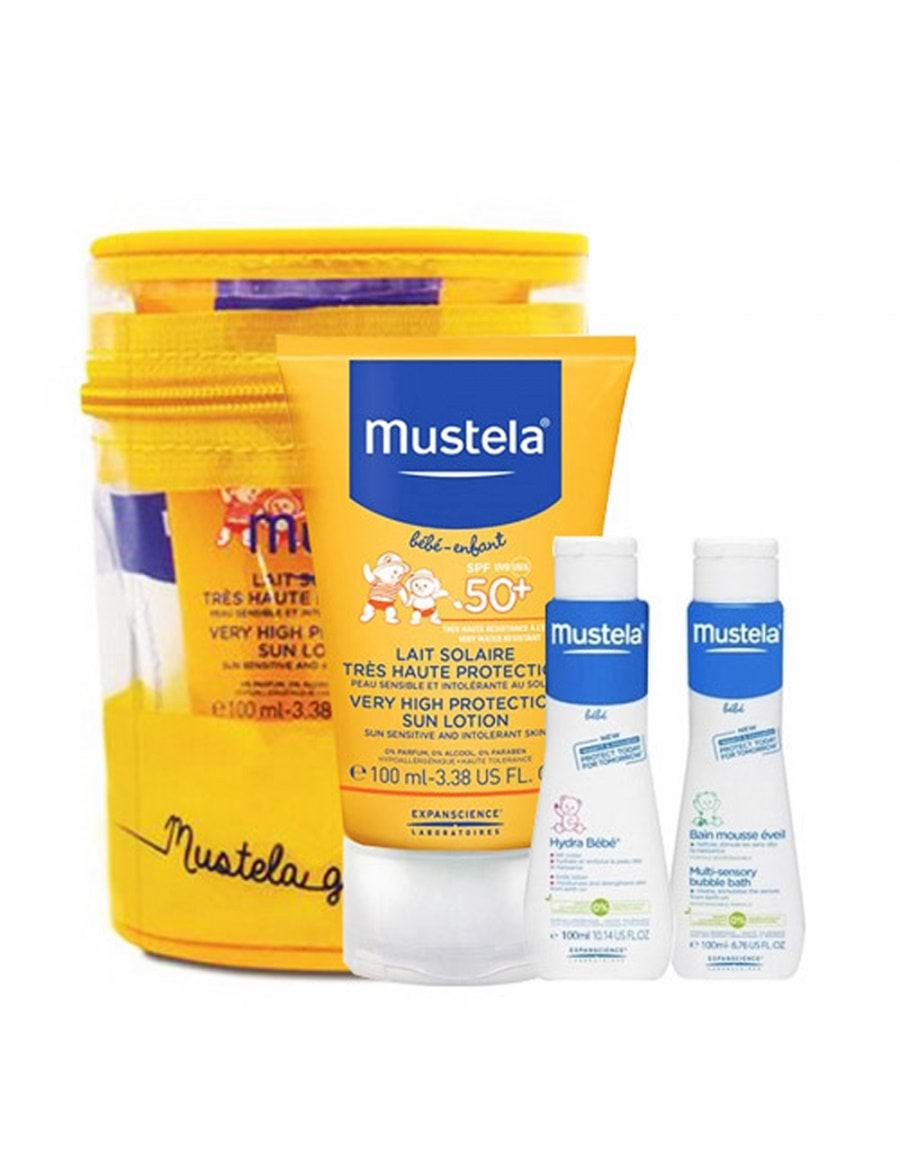 Mustela Protection Lotıon Spf 50+ (200 Ml) + Hydra Bebe Body Lotıon 100 Ml  + Şampuan 100 Ml Hediye intérieur But Foot Enfant