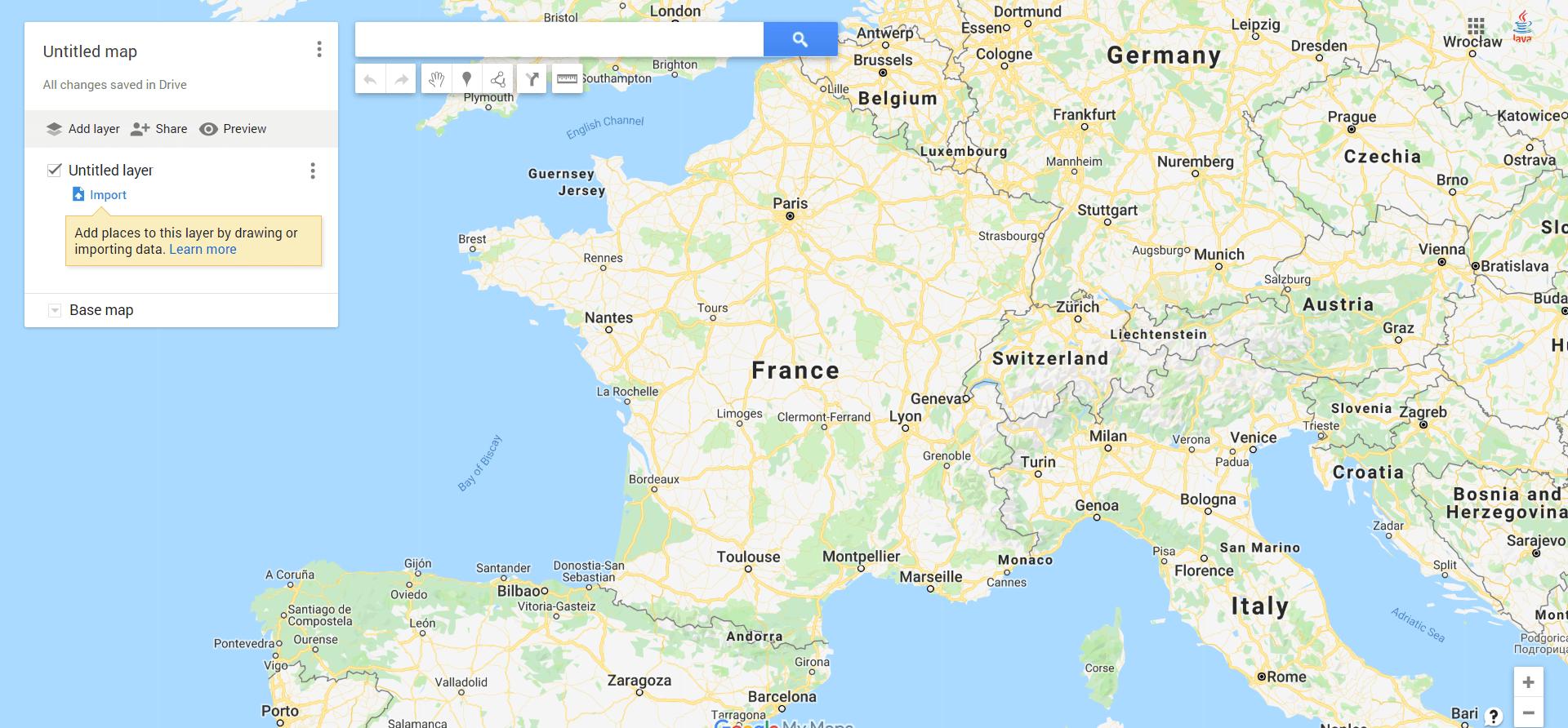 My Maps : Créer Une Carte De France Google Maps Personnalisée dedans Voir La Carte De France