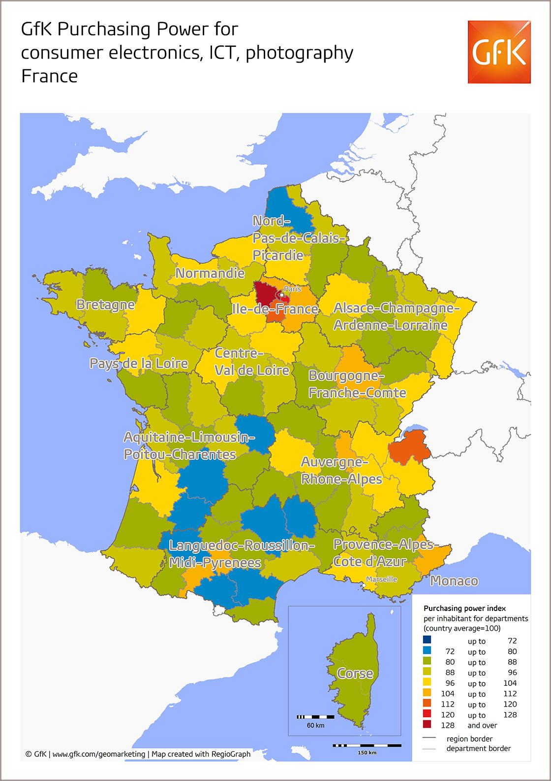 News | Gfk United States intérieur Acheter Carte De France