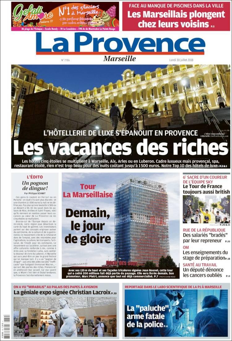 Newspaper La Provence (France). Newspapers In France dedans Combien Yat Il De Region En France