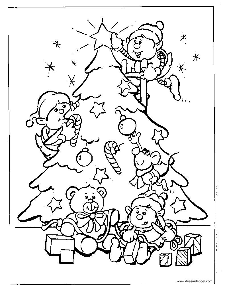 Noël #3 (Fêtes Et Occasions Spéciales) – Coloriages À Imprimer à Dessin A Colorier De Noel Gratuit A Imprimer