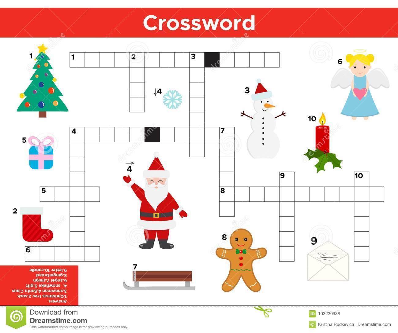 Noël De Vecteur, Mots Croisé De Nouvelle Année En Anglais tout Mot Croisé En Anglais