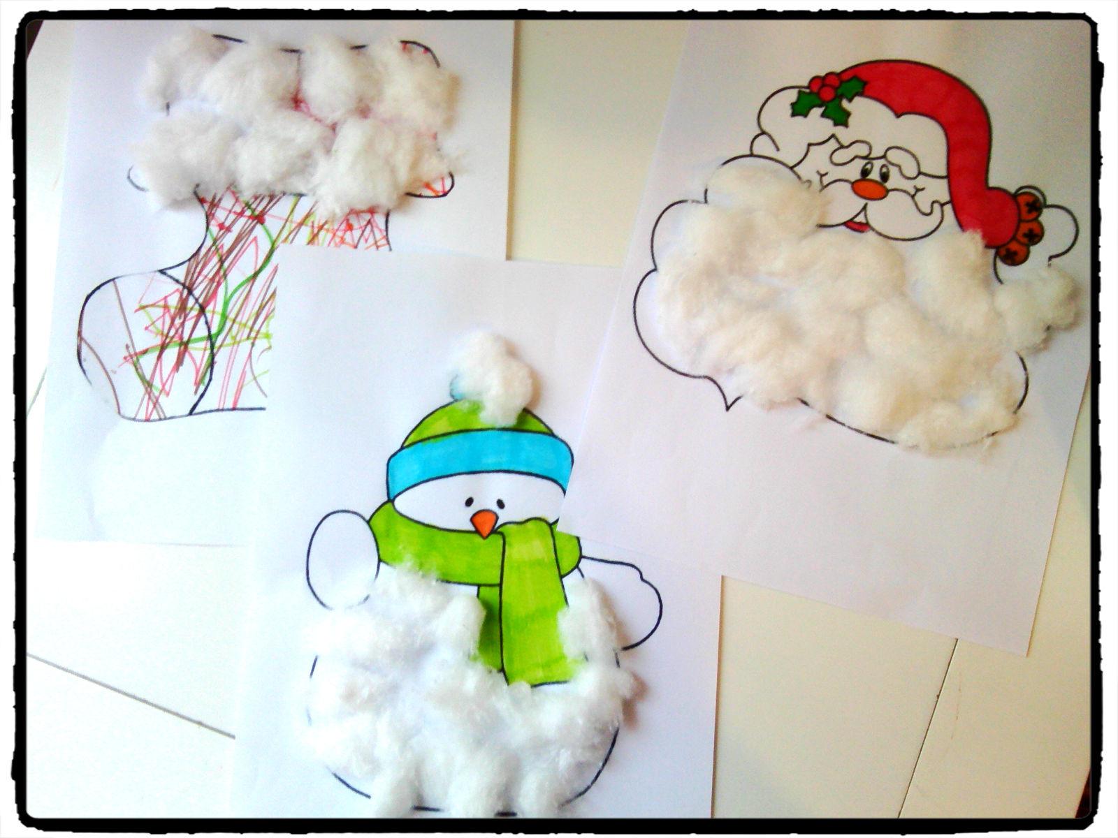 Noël En Coton : Activités Pour Les Petits - tout Activités Manuelles 3 Ans Pour Noel